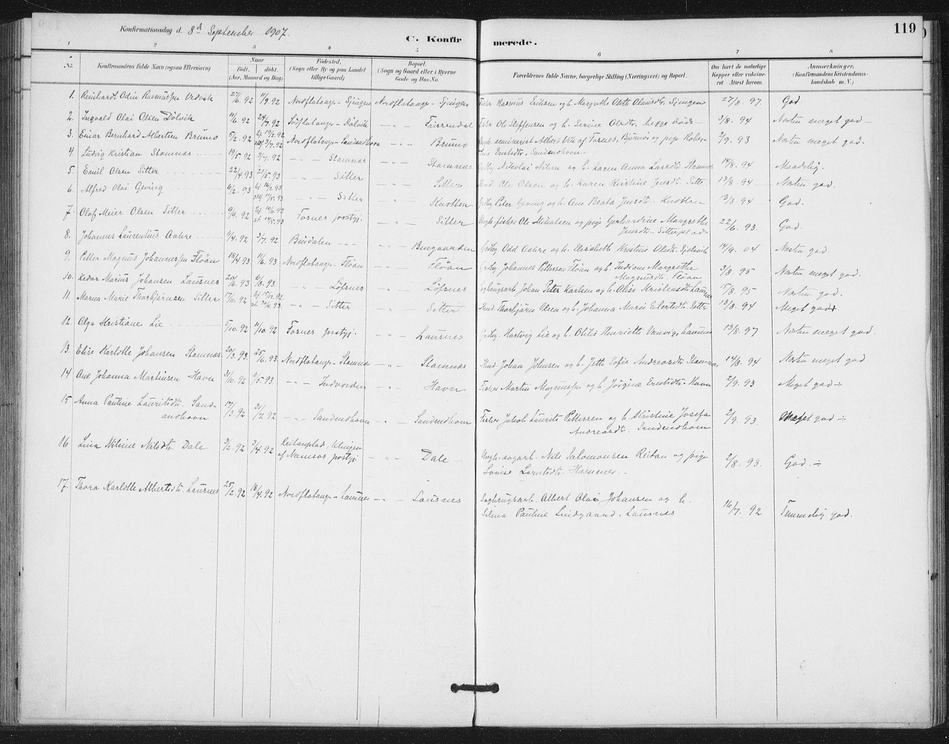 SAT, Ministerialprotokoller, klokkerbøker og fødselsregistre - Nord-Trøndelag, 772/L0603: Ministerialbok nr. 772A01, 1885-1912, s. 119