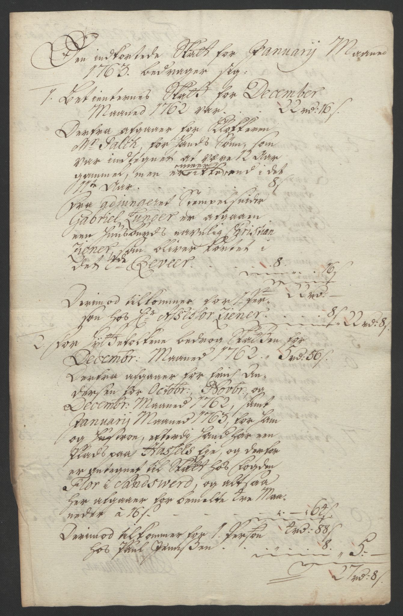 RA, Rentekammeret inntil 1814, Reviderte regnskaper, Bergverksregnskaper, R/Rc/Rca/L0843: Ekstraskatt, 1762-1765, s. 228