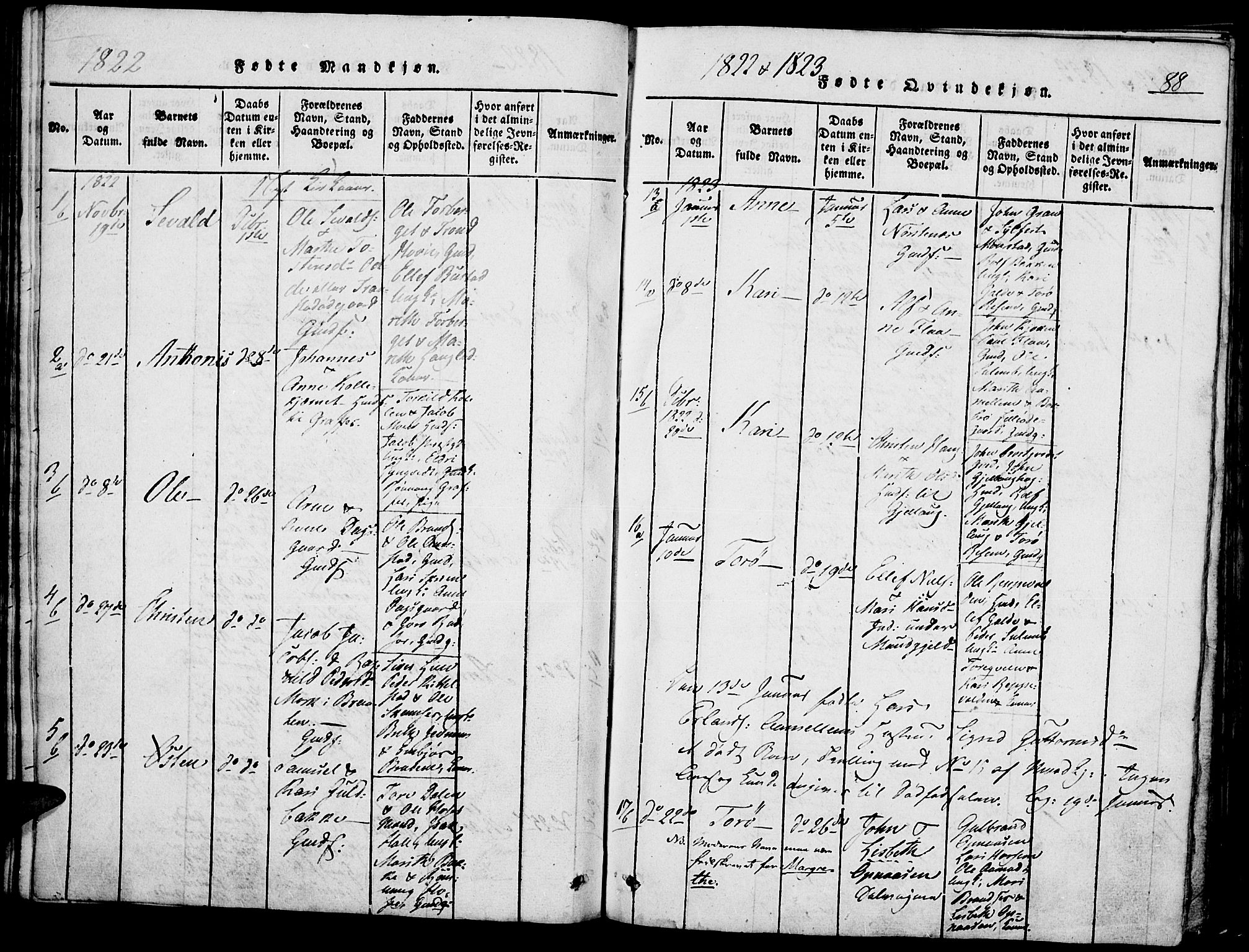 SAH, Lom prestekontor, K/L0004: Ministerialbok nr. 4, 1815-1825, s. 88