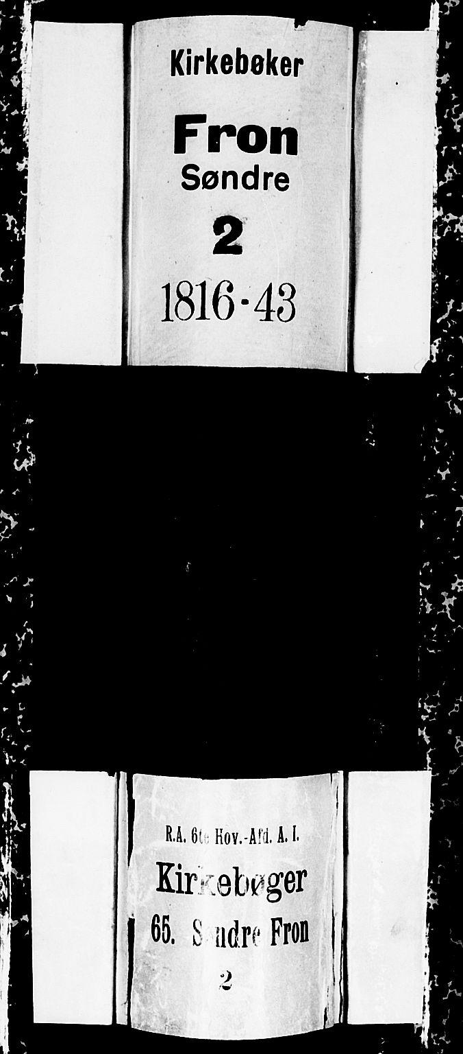 SAH, Fron prestekontor, H/Ha/Hab/L0001: Klokkerbok nr. 1, 1816-1843