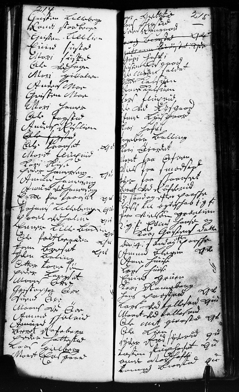 SAH, Fåberg prestekontor, Klokkerbok nr. 2, 1741-1756, s. 214-215