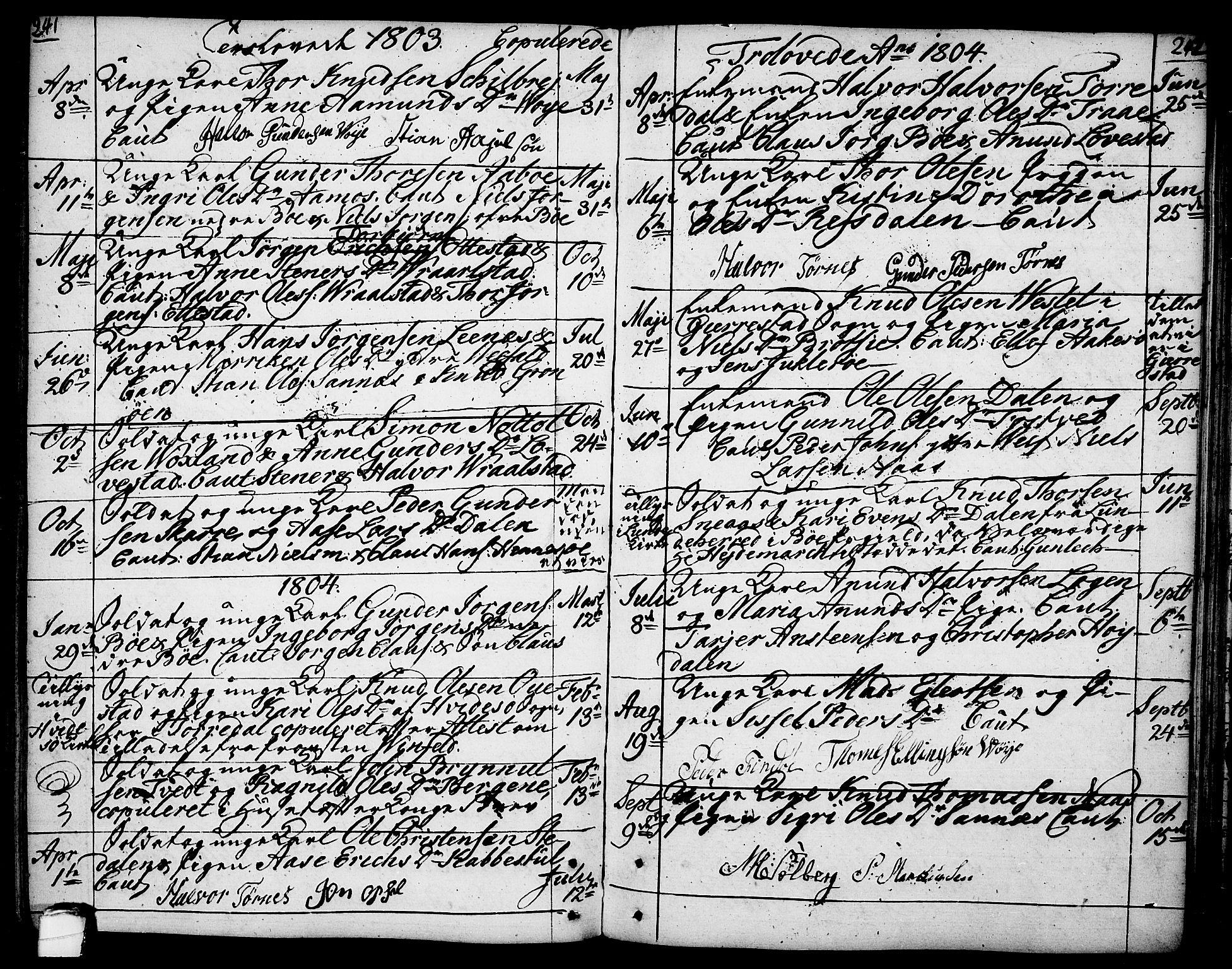 SAKO, Drangedal kirkebøker, F/Fa/L0003: Ministerialbok nr. 3, 1768-1814, s. 241-242