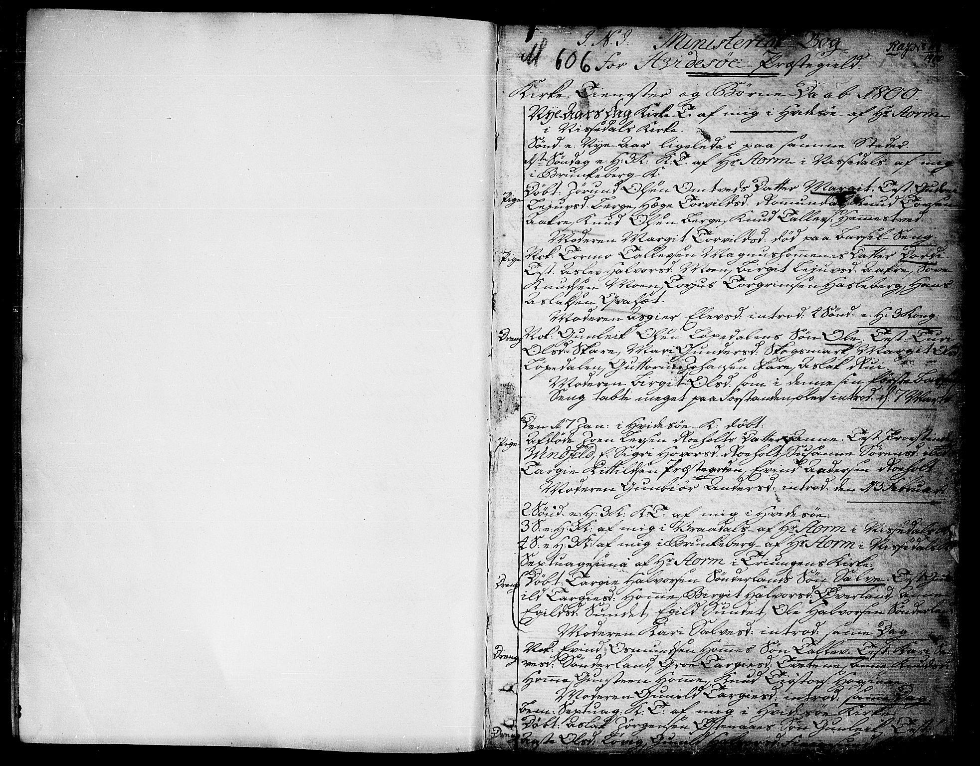 SAKO, Kviteseid kirkebøker, F/Fa/L0004: Ministerialbok nr. I 4, 1800-1814, s. 1
