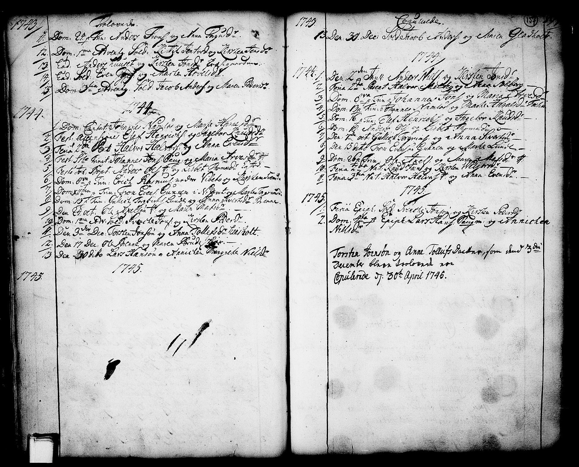SAKO, Holla kirkebøker, F/Fa/L0001: Ministerialbok nr. 1, 1717-1779, s. 157