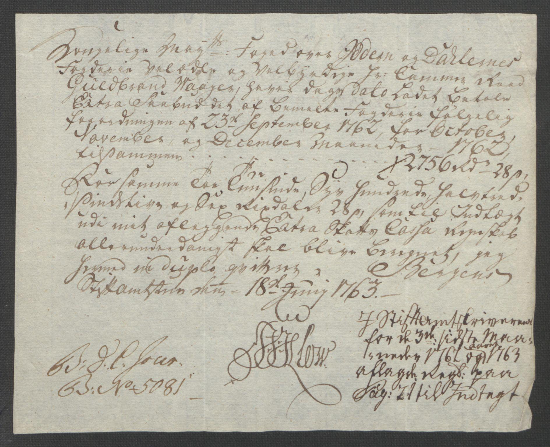 RA, Rentekammeret inntil 1814, Reviderte regnskaper, Fogderegnskap, R46/L2835: Ekstraskatten Jæren og Dalane, 1762-1764, s. 23