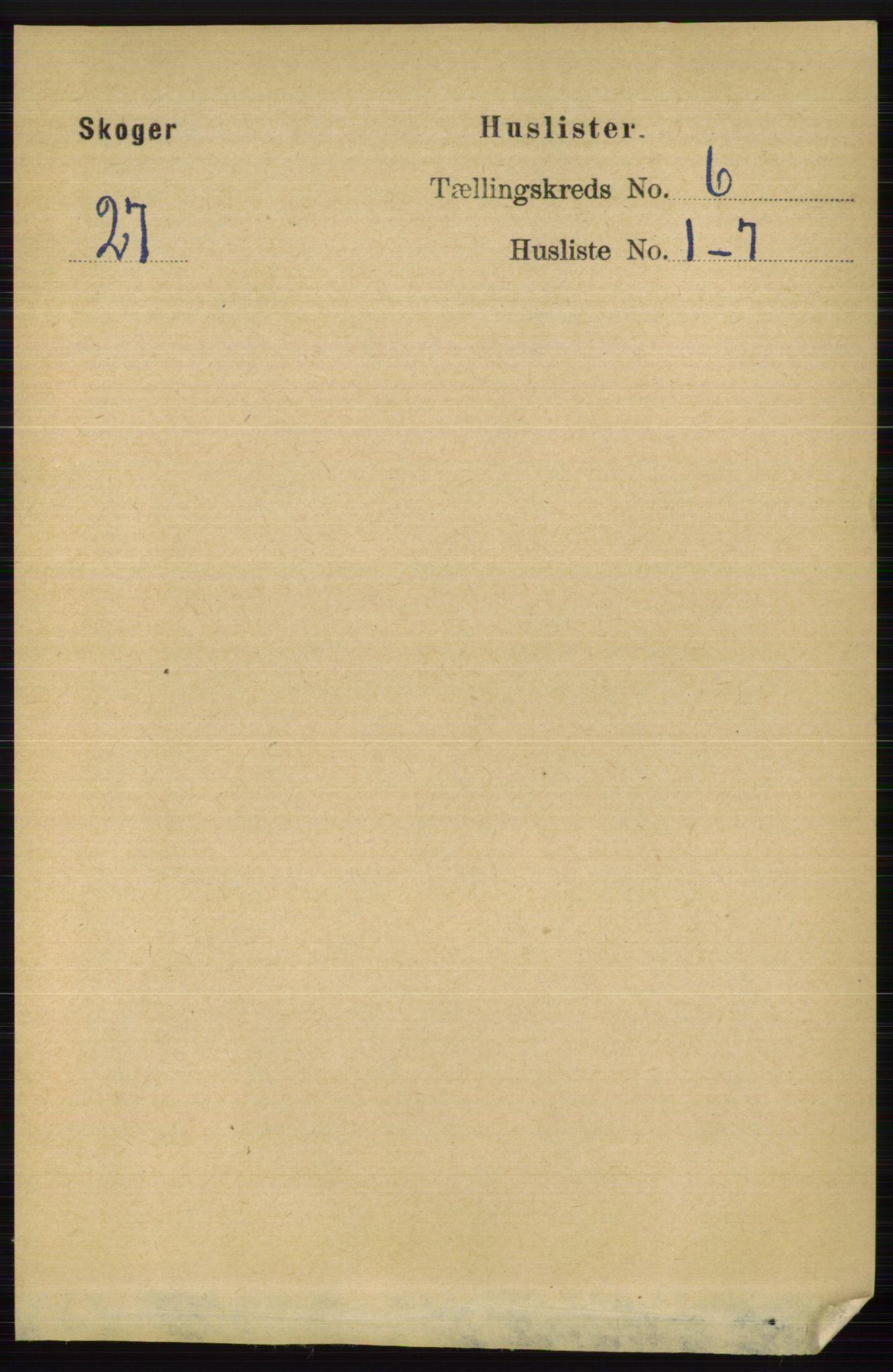 RA, Folketelling 1891 for 0712 Skoger herred, 1891, s. 3699