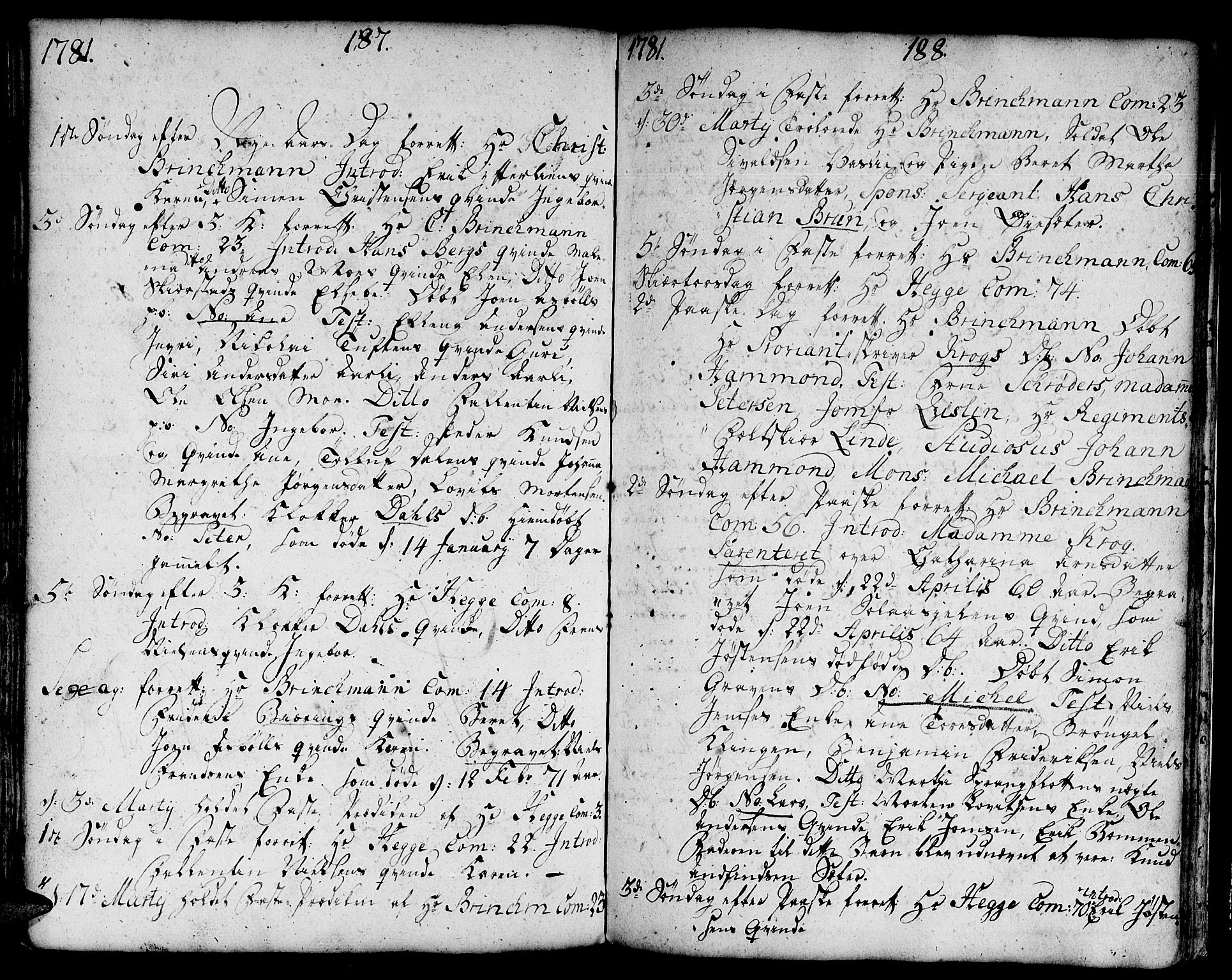SAT, Ministerialprotokoller, klokkerbøker og fødselsregistre - Sør-Trøndelag, 671/L0840: Ministerialbok nr. 671A02, 1756-1794, s. 287-288