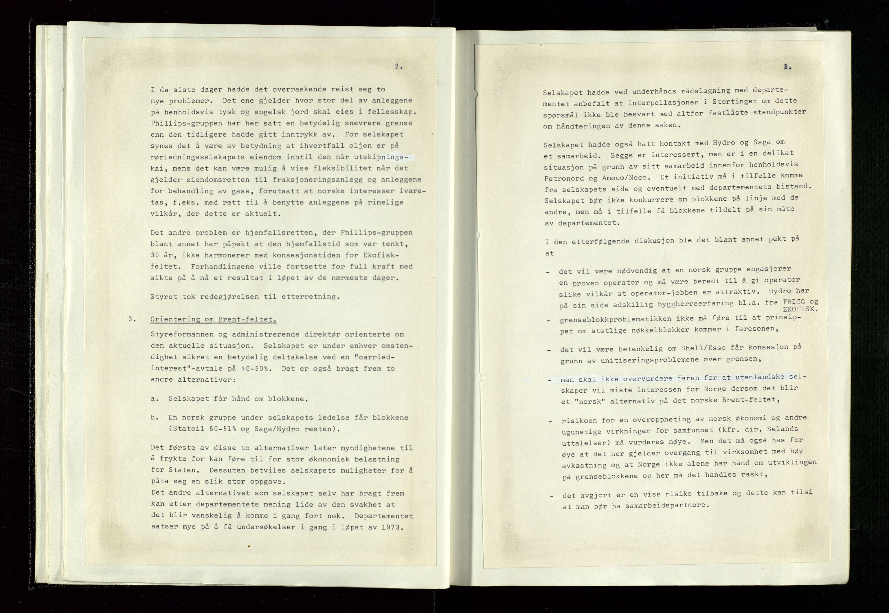 SAST, Pa 1339 - Statoil ASA, A/Ab/Aba/L0001: Styremøteprotokoller, 05.10.1972 til 14.12.1978, 1972-1978, s. 23