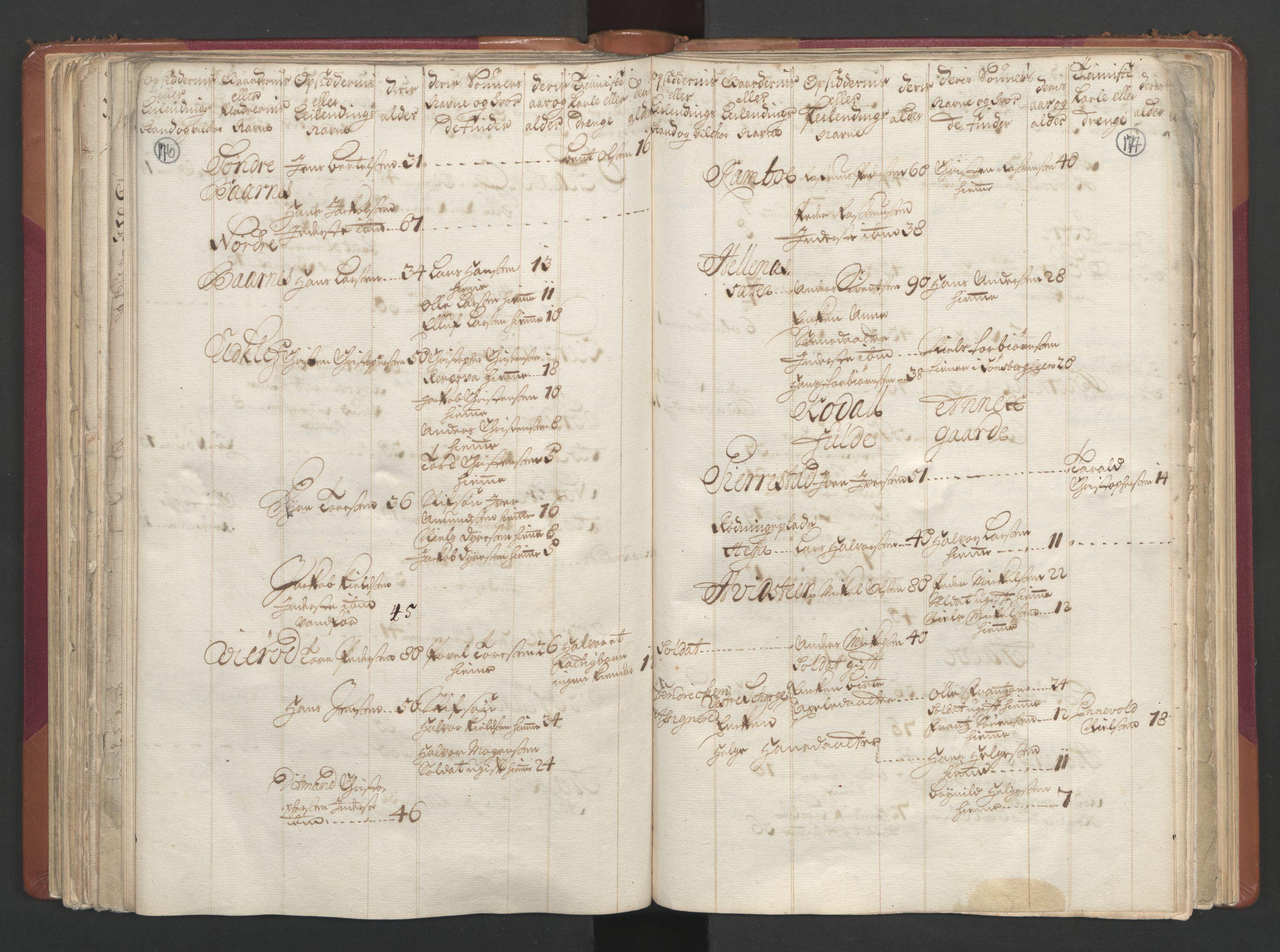 RA, Manntallet 1701, nr. 2: Solør, Odal og Østerdal fogderi og Larvik grevskap, 1701, s. 176-177