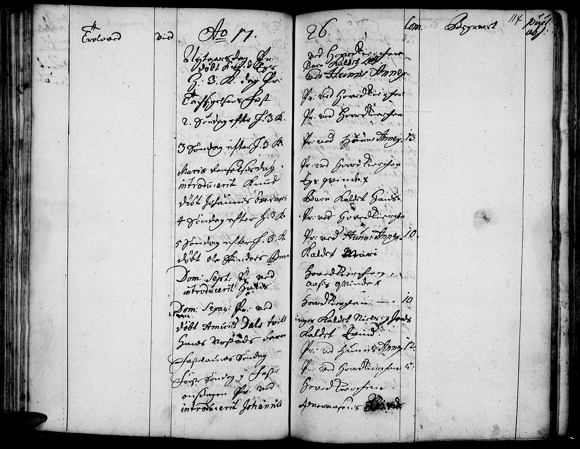 SAH, Vardal prestekontor, H/Ha/Haa/L0001: Ministerialbok nr. 1, 1706-1748, s. 114