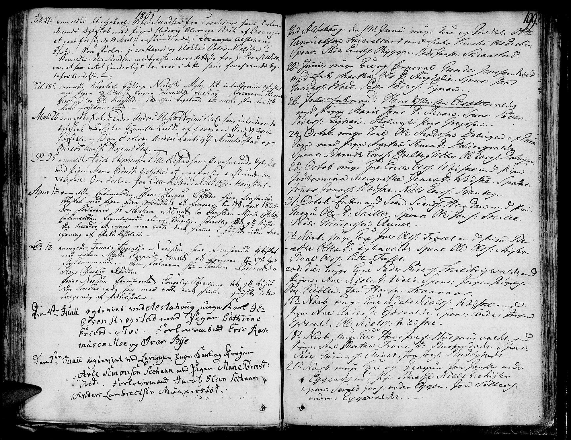 SAT, Ministerialprotokoller, klokkerbøker og fødselsregistre - Nord-Trøndelag, 717/L0142: Ministerialbok nr. 717A02 /1, 1783-1809, s. 199