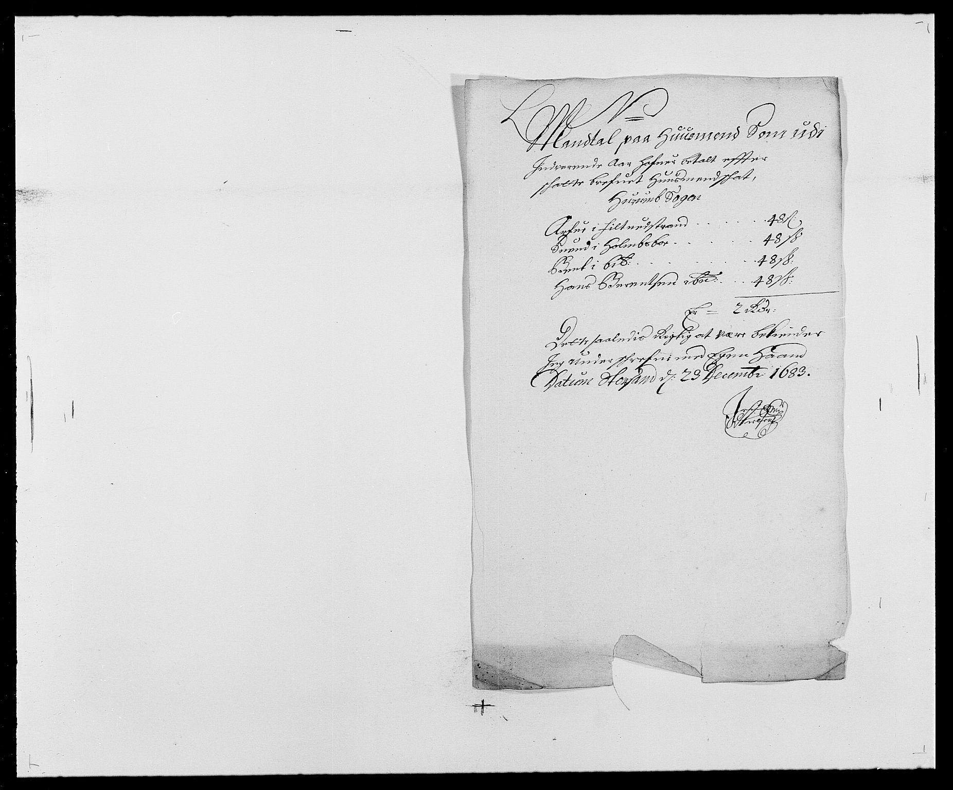 RA, Rentekammeret inntil 1814, Reviderte regnskaper, Fogderegnskap, R29/L1692: Fogderegnskap Hurum og Røyken, 1682-1687, s. 156