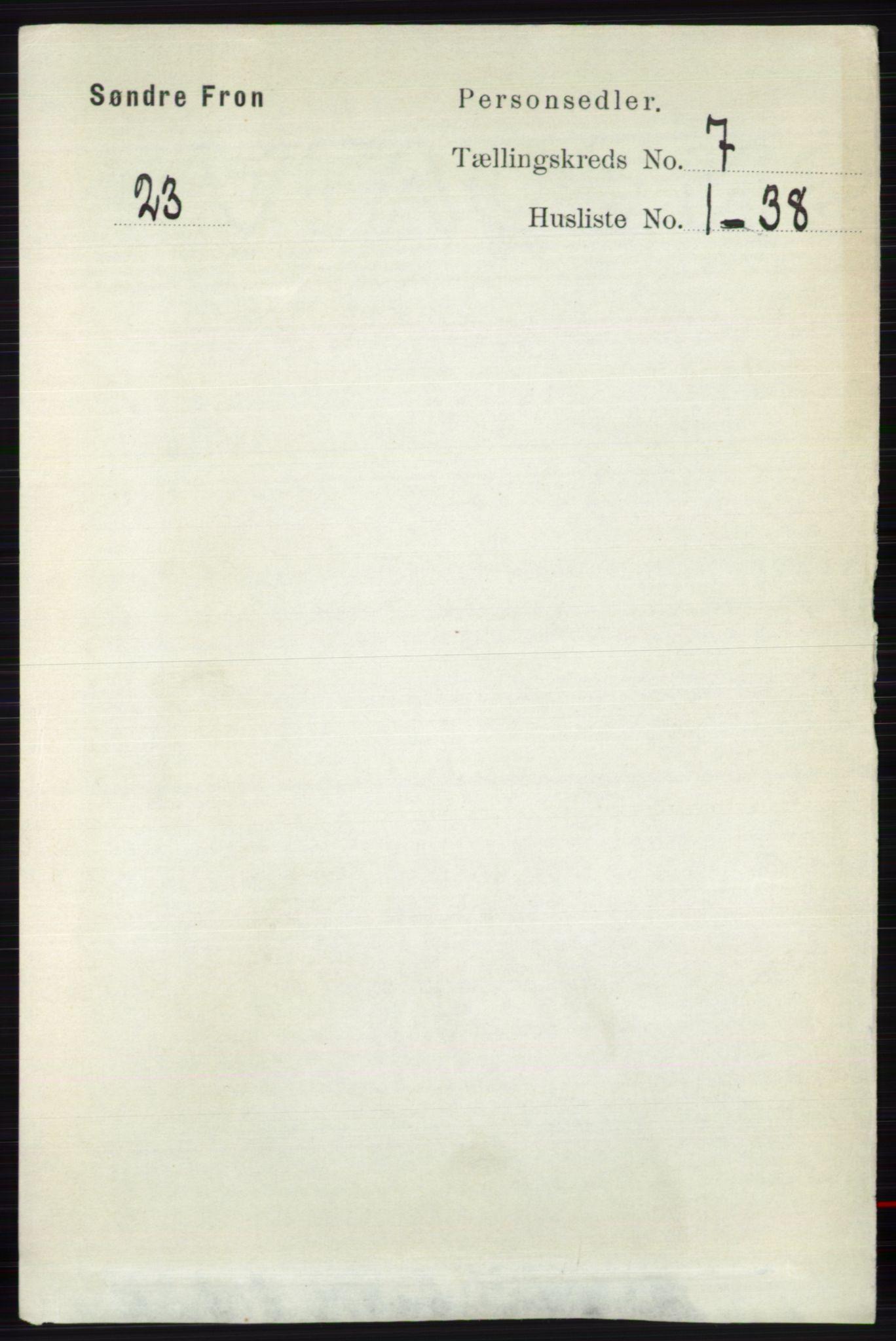 RA, Folketelling 1891 for 0519 Sør-Fron herred, 1891, s. 3055