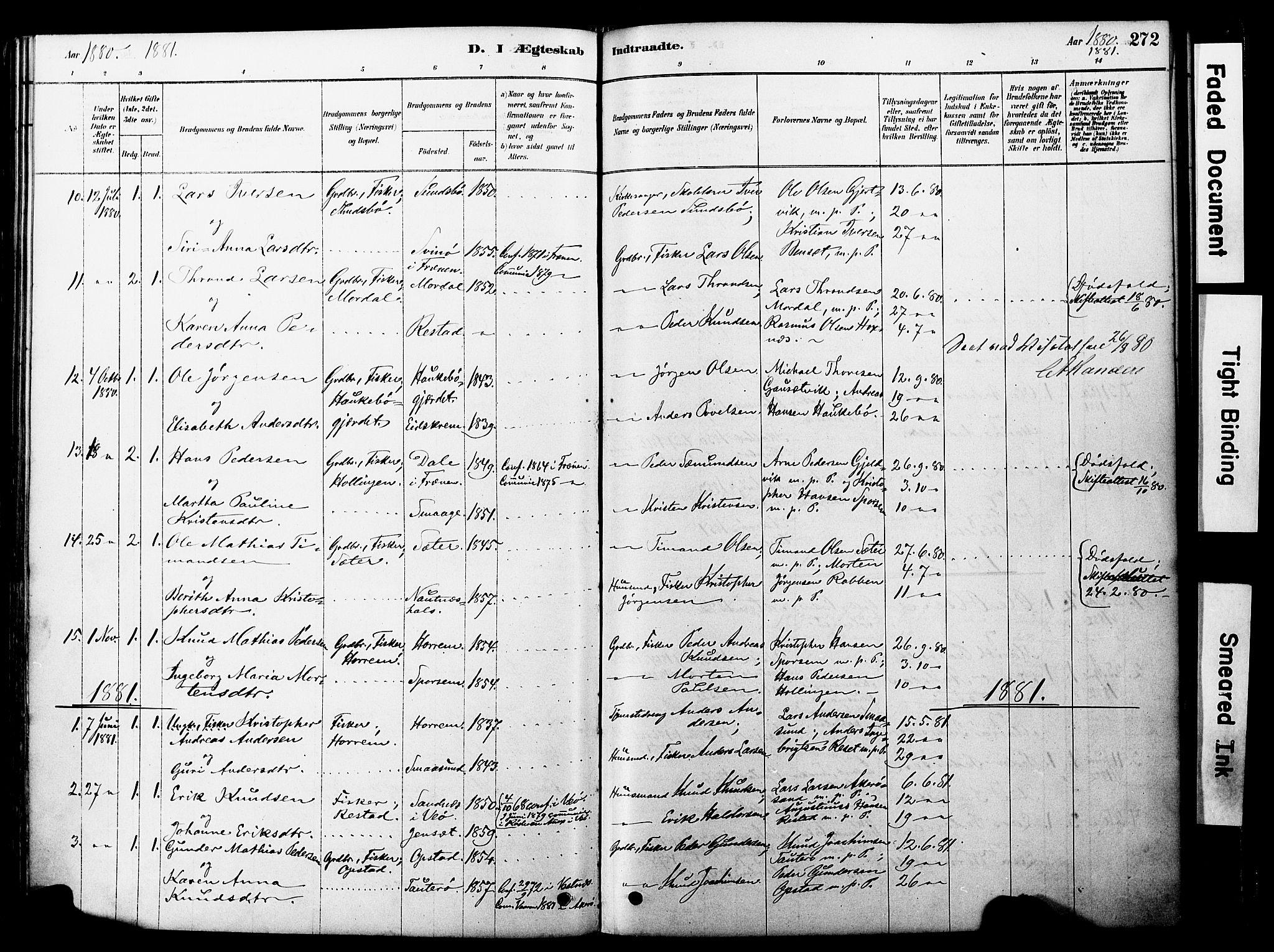 SAT, Ministerialprotokoller, klokkerbøker og fødselsregistre - Møre og Romsdal, 560/L0721: Ministerialbok nr. 560A05, 1878-1917, s. 272