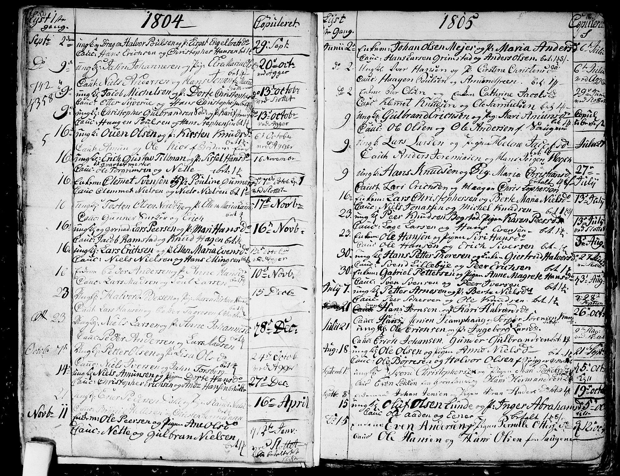SAO, Aker prestekontor kirkebøker, G/L0001: Klokkerbok nr. 1, 1796-1826, s. 12-13