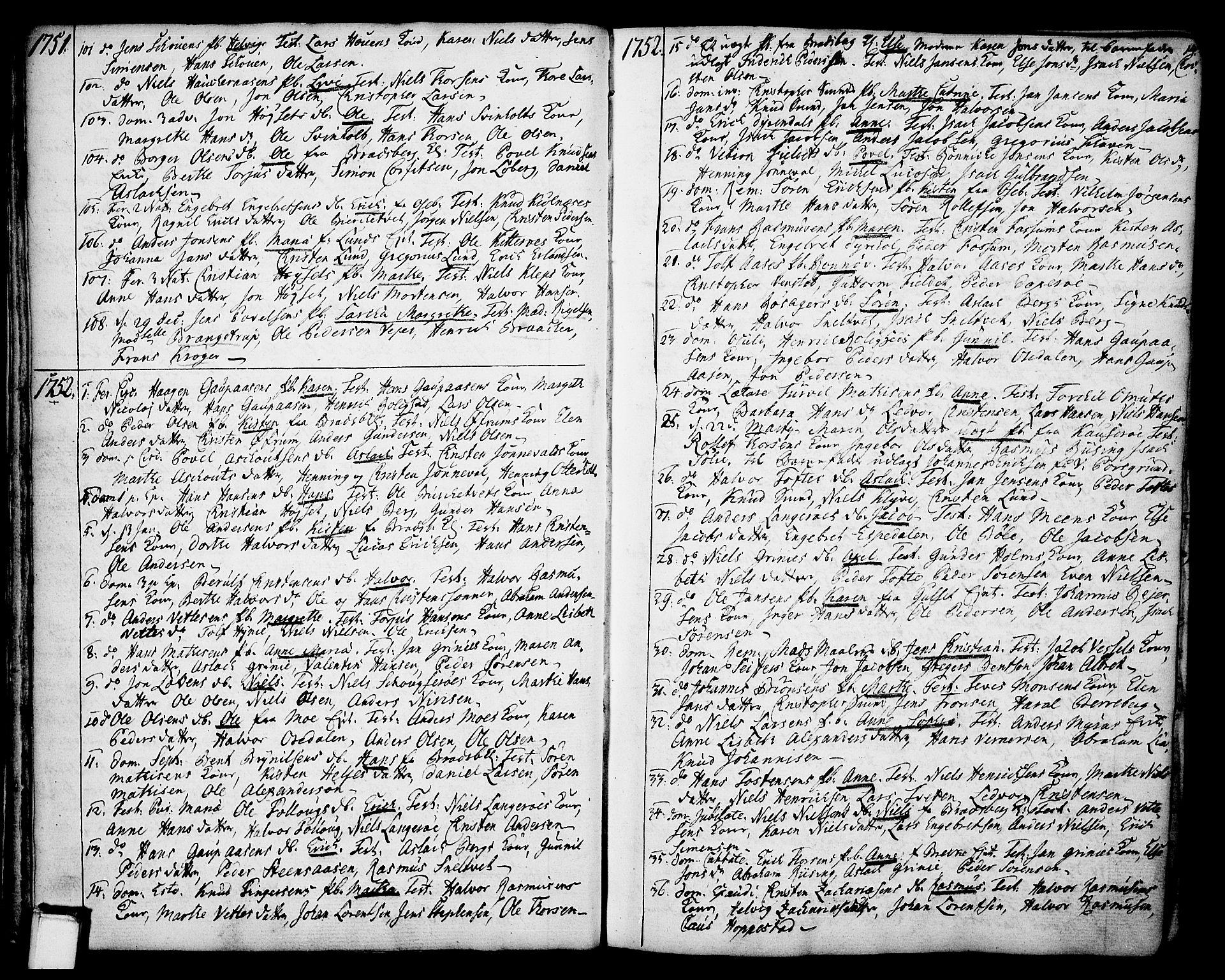 SAKO, Gjerpen kirkebøker, F/Fa/L0002: Ministerialbok nr. 2, 1747-1795, s. 14