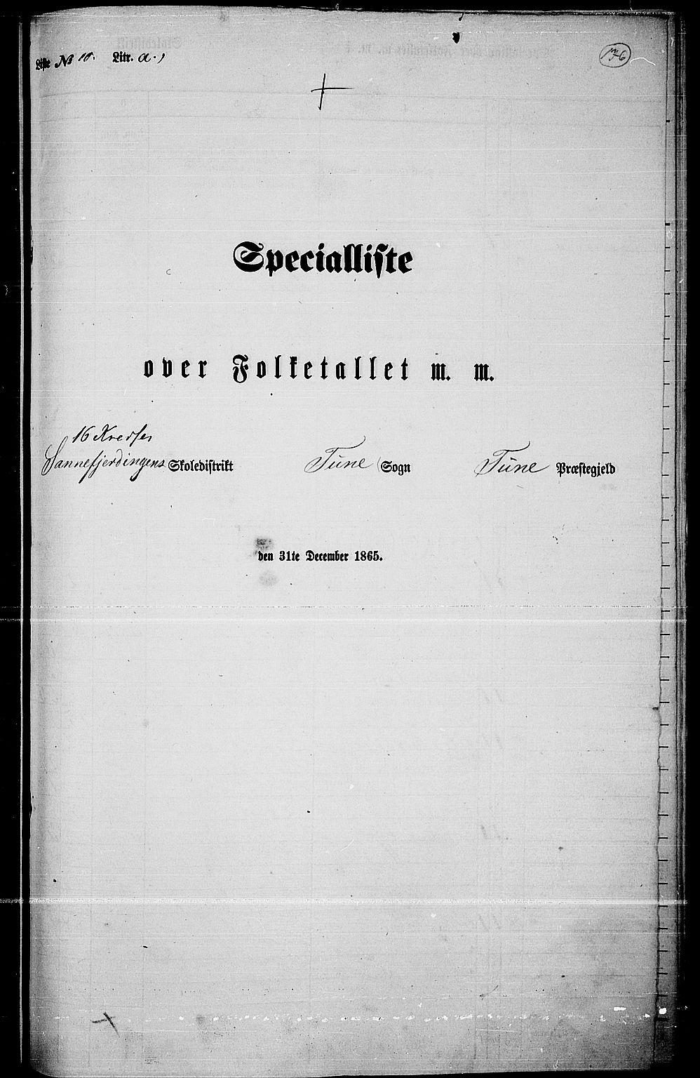 RA, Folketelling 1865 for 0130P Tune prestegjeld, 1865, s. 249