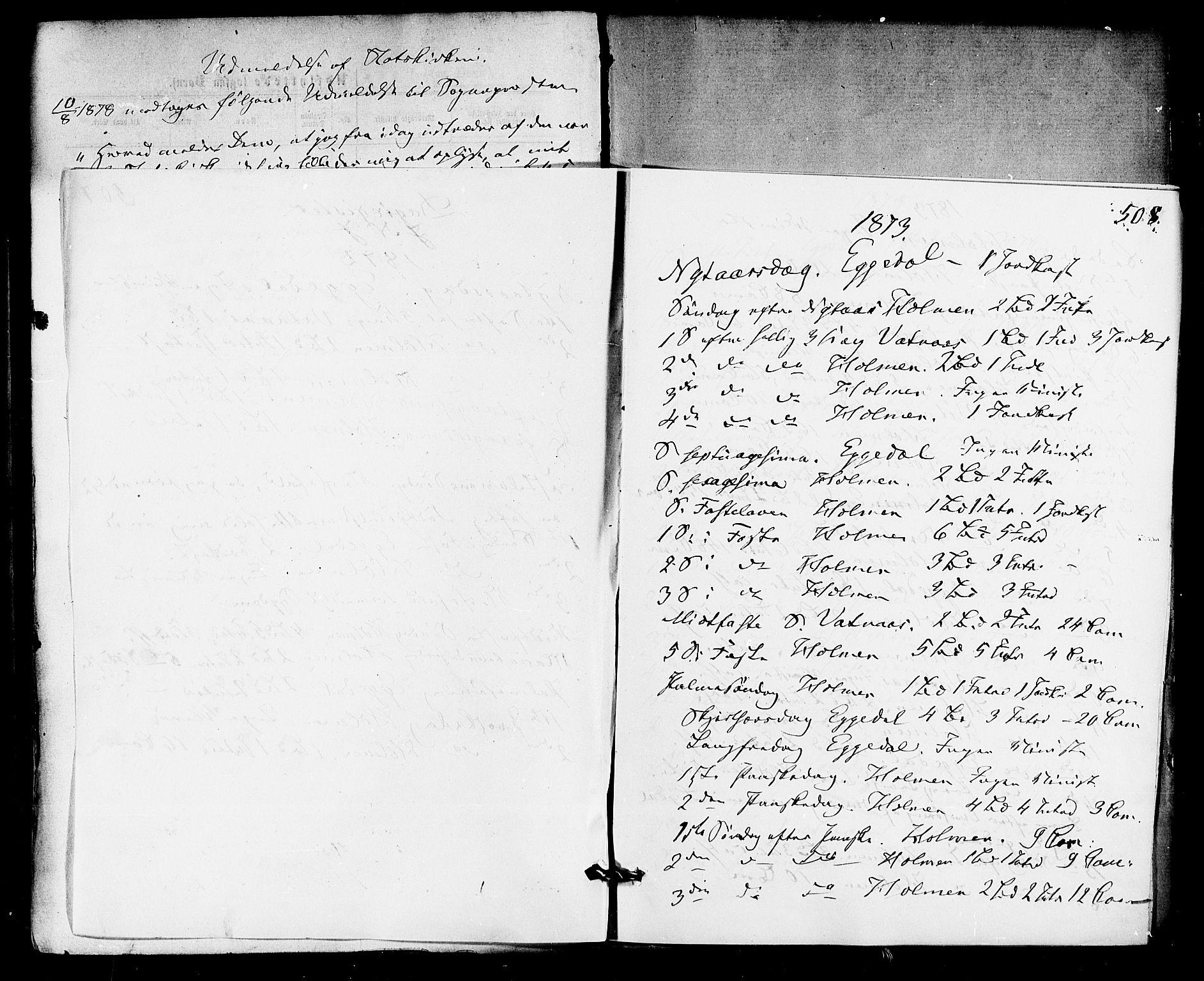 SAKO, Sigdal kirkebøker, F/Fa/L0010: Ministerialbok nr. I 10 /1, 1872-1878, s. 508