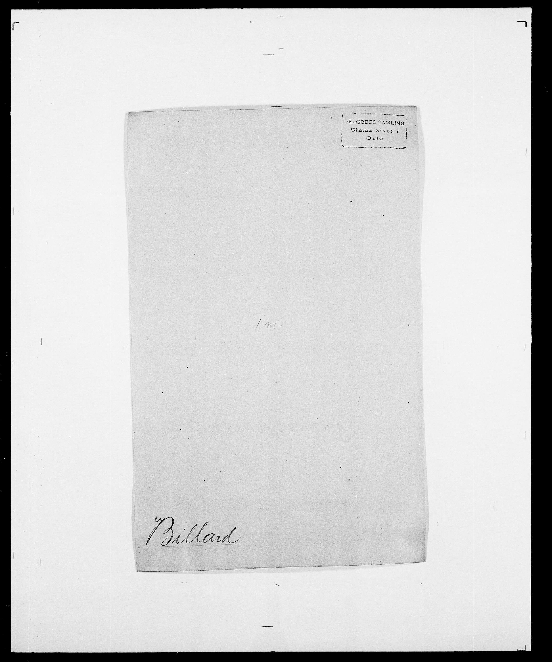 SAO, Delgobe, Charles Antoine - samling, D/Da/L0004: Bergendahl - Blære, s. 279