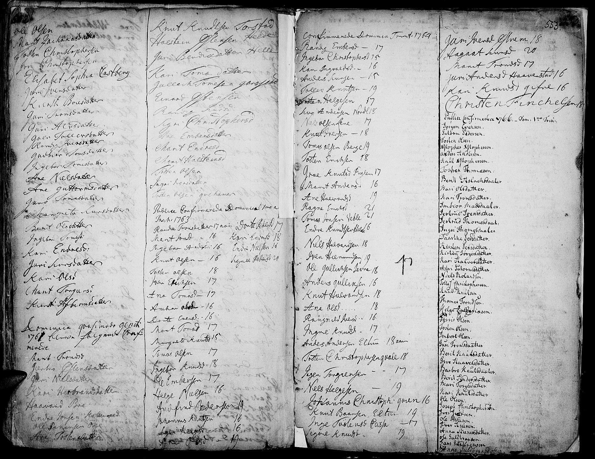 SAH, Vang prestekontor, Valdres, Ministerialbok nr. 1, 1730-1796, s. 552-553