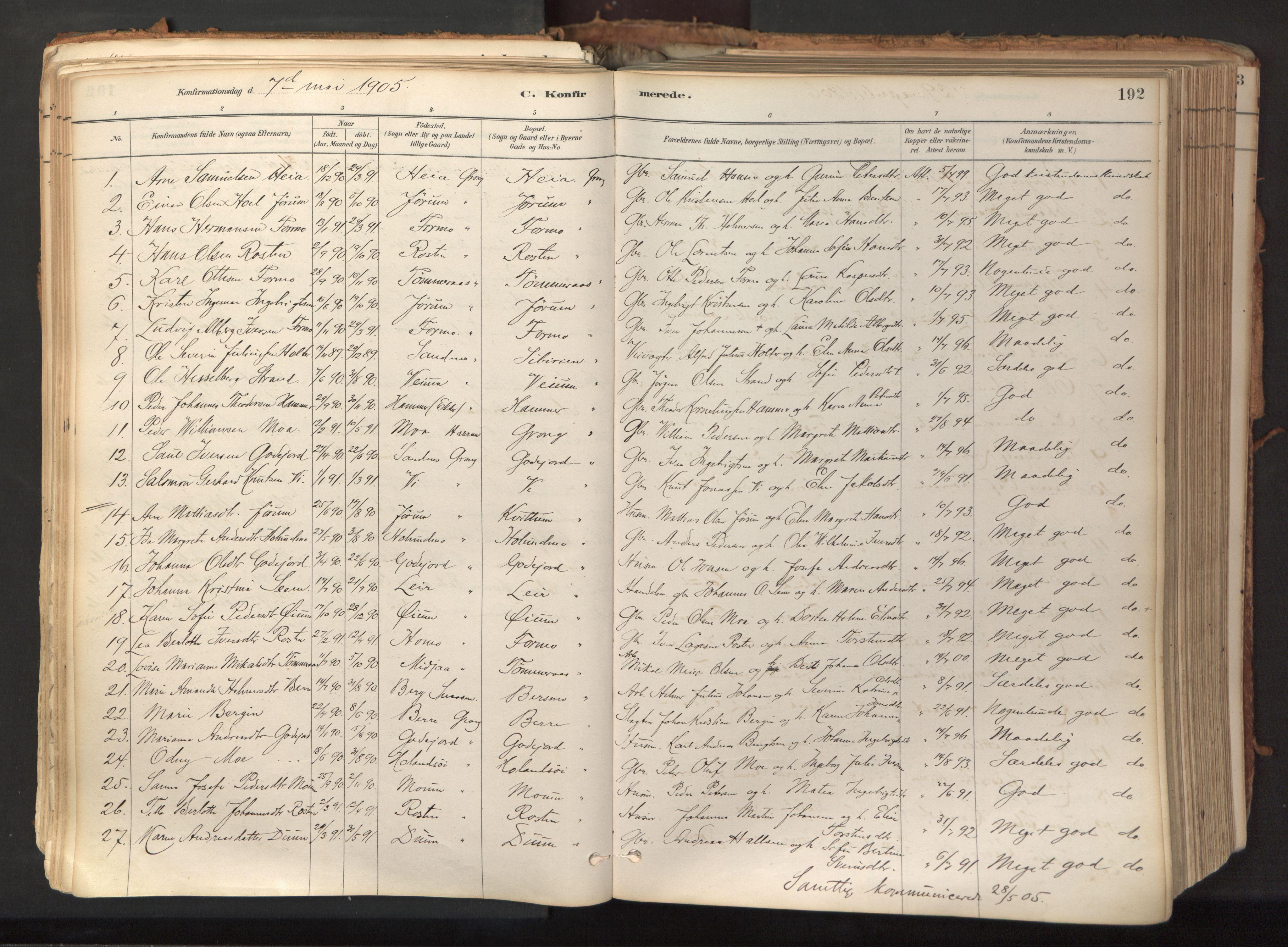 SAT, Ministerialprotokoller, klokkerbøker og fødselsregistre - Nord-Trøndelag, 758/L0519: Ministerialbok nr. 758A04, 1880-1926, s. 192