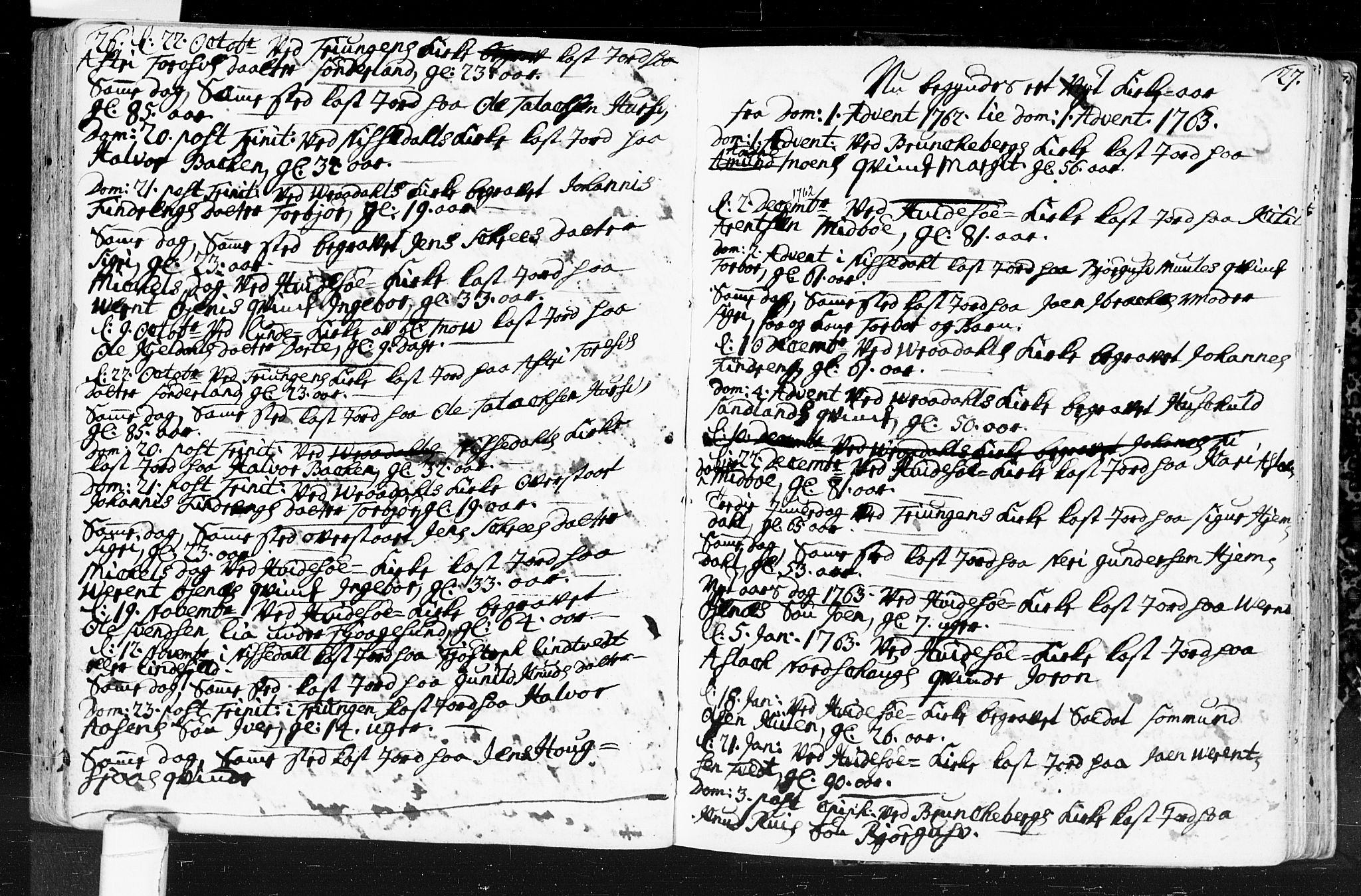 SAKO, Kviteseid kirkebøker, F/Fa/L0001: Ministerialbok nr. I 1, 1754-1773, s. 26-27
