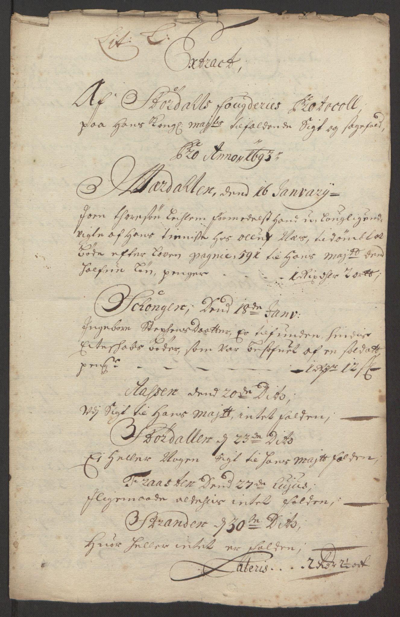 RA, Rentekammeret inntil 1814, Reviderte regnskaper, Fogderegnskap, R62/L4186: Fogderegnskap Stjørdal og Verdal, 1693-1694, s. 130