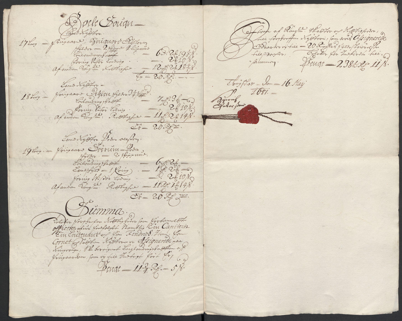 RA, Rentekammeret inntil 1814, Reviderte regnskaper, Fogderegnskap, R21/L1445: Fogderegnskap Ringerike og Hallingdal, 1681-1689, s. 212