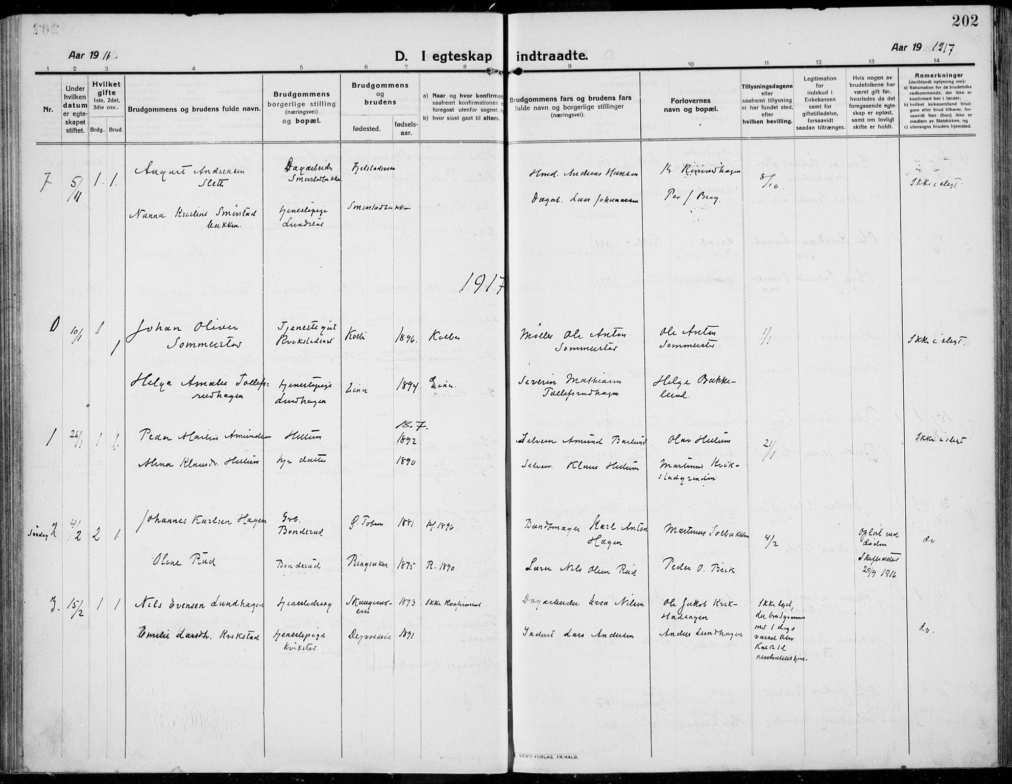 SAH, Kolbu prestekontor, Ministerialbok nr. 2, 1912-1926, s. 202