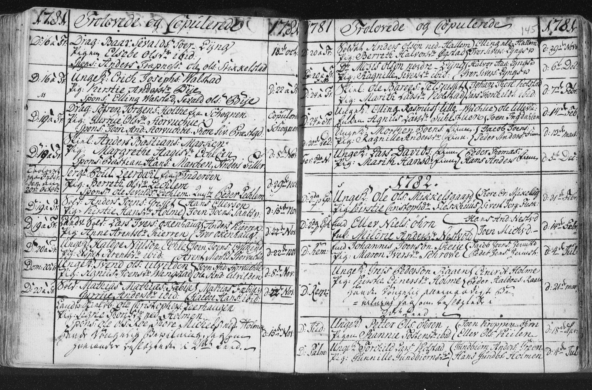 SAT, Ministerialprotokoller, klokkerbøker og fødselsregistre - Nord-Trøndelag, 723/L0232: Ministerialbok nr. 723A03, 1781-1804, s. 145