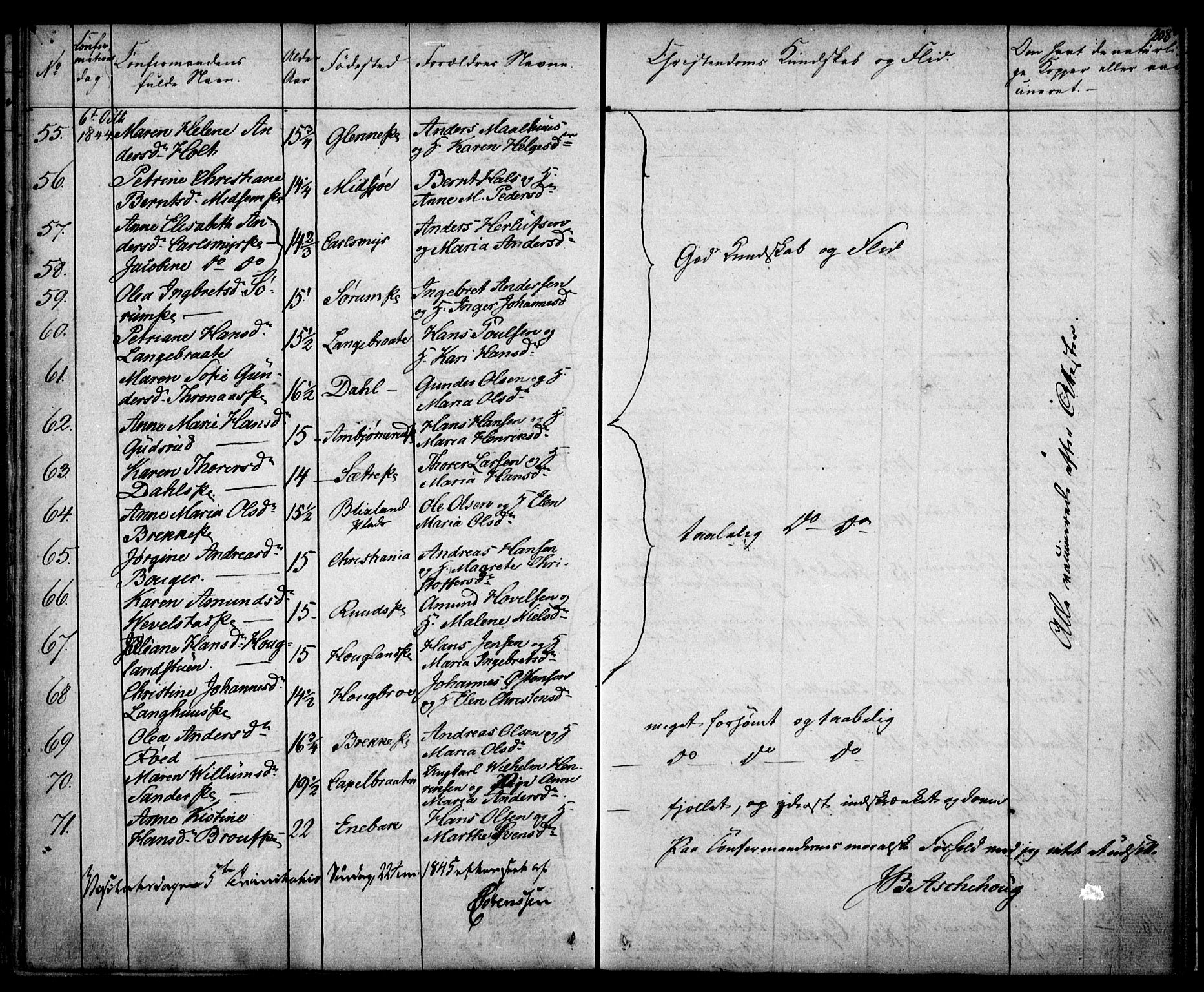SAO, Kråkstad prestekontor Kirkebøker, F/Fa/L0005: Ministerialbok nr. I 5, 1837-1847, s. 208