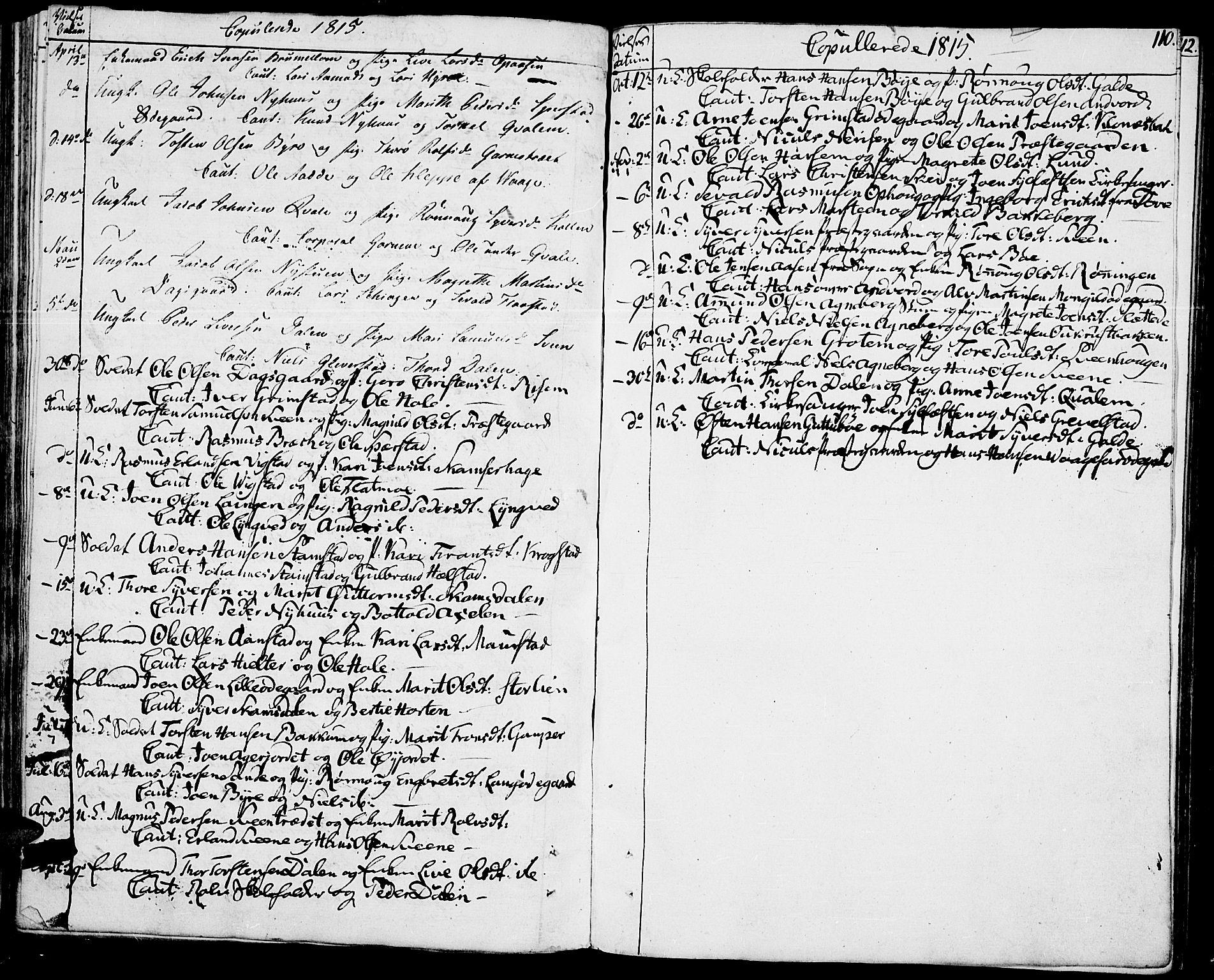SAH, Lom prestekontor, K/L0003: Ministerialbok nr. 3, 1801-1825, s. 110