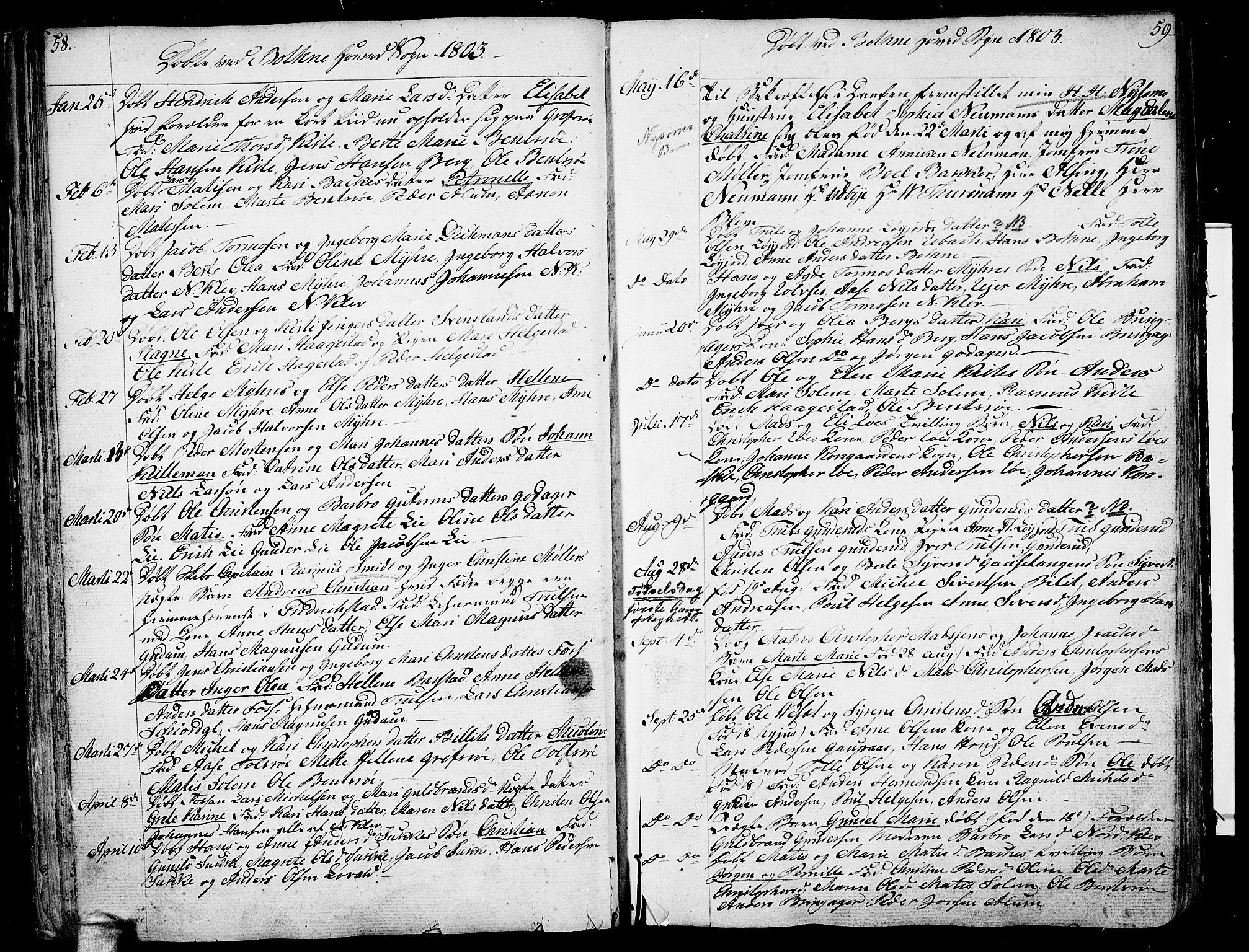 SAKO, Botne kirkebøker, F/Fa/L0003: Ministerialbok nr. I 3 /1, 1792-1844, s. 58-59