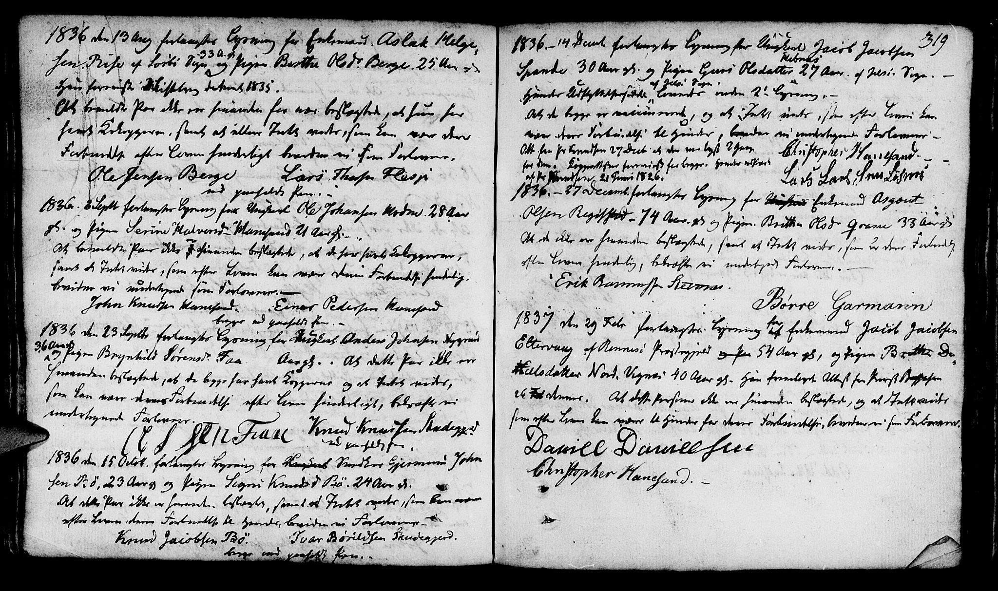 SAST, Finnøy sokneprestkontor, H/Ha/Haa/L0005: Ministerialbok nr. A 5, 1773-1816, s. 319