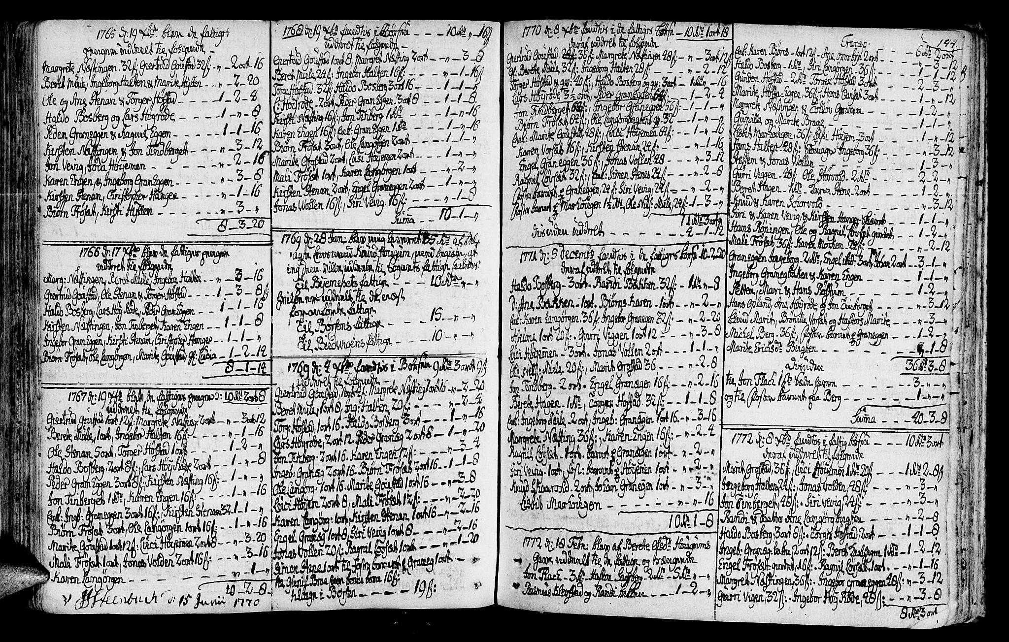SAT, Ministerialprotokoller, klokkerbøker og fødselsregistre - Sør-Trøndelag, 612/L0370: Ministerialbok nr. 612A04, 1754-1802, s. 144