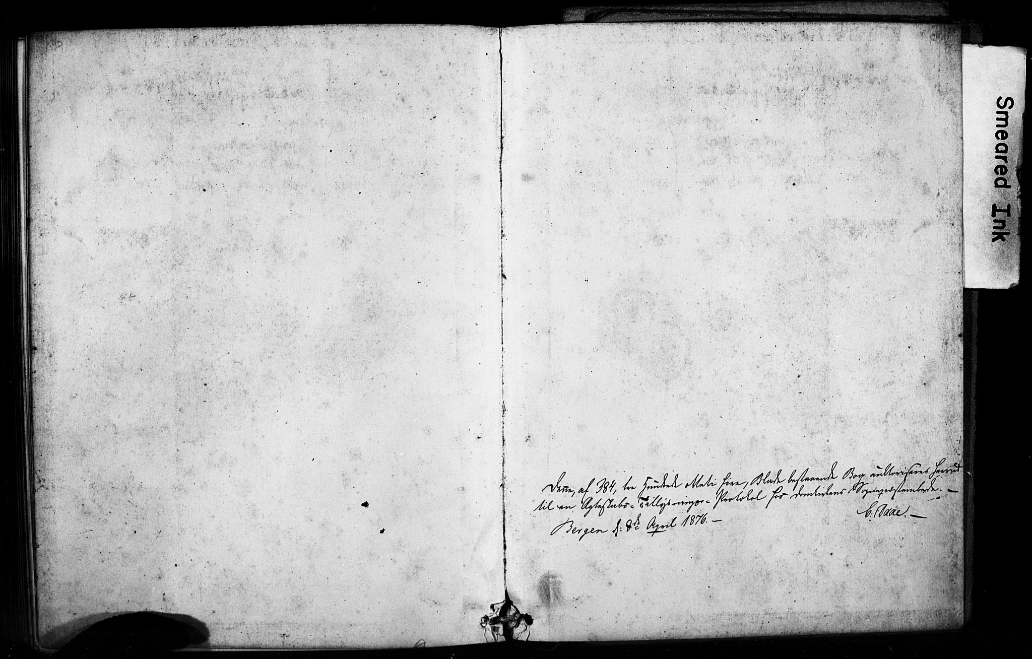 SAB, Domkirken Sokneprestembete, Forlovererklæringer nr. II.5.8, 1876-1882