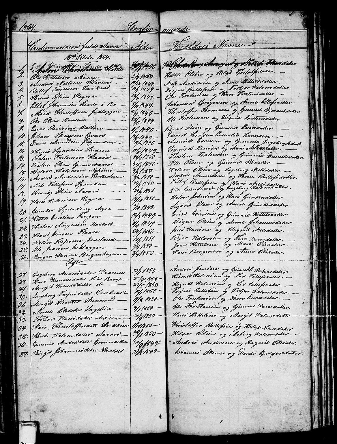 SAKO, Sauherad kirkebøker, G/Gb/L0001: Klokkerbok nr. II 1, 1845-1865, s. 71