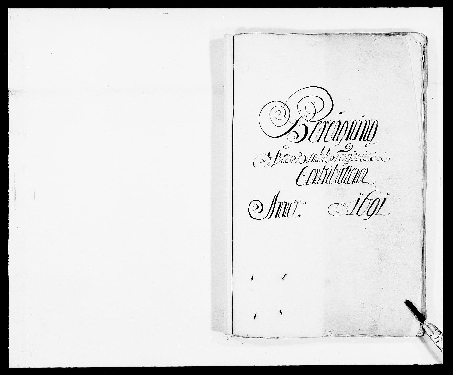 RA, Rentekammeret inntil 1814, Reviderte regnskaper, Fogderegnskap, R34/L2051: Fogderegnskap Bamble, 1688-1691, s. 308