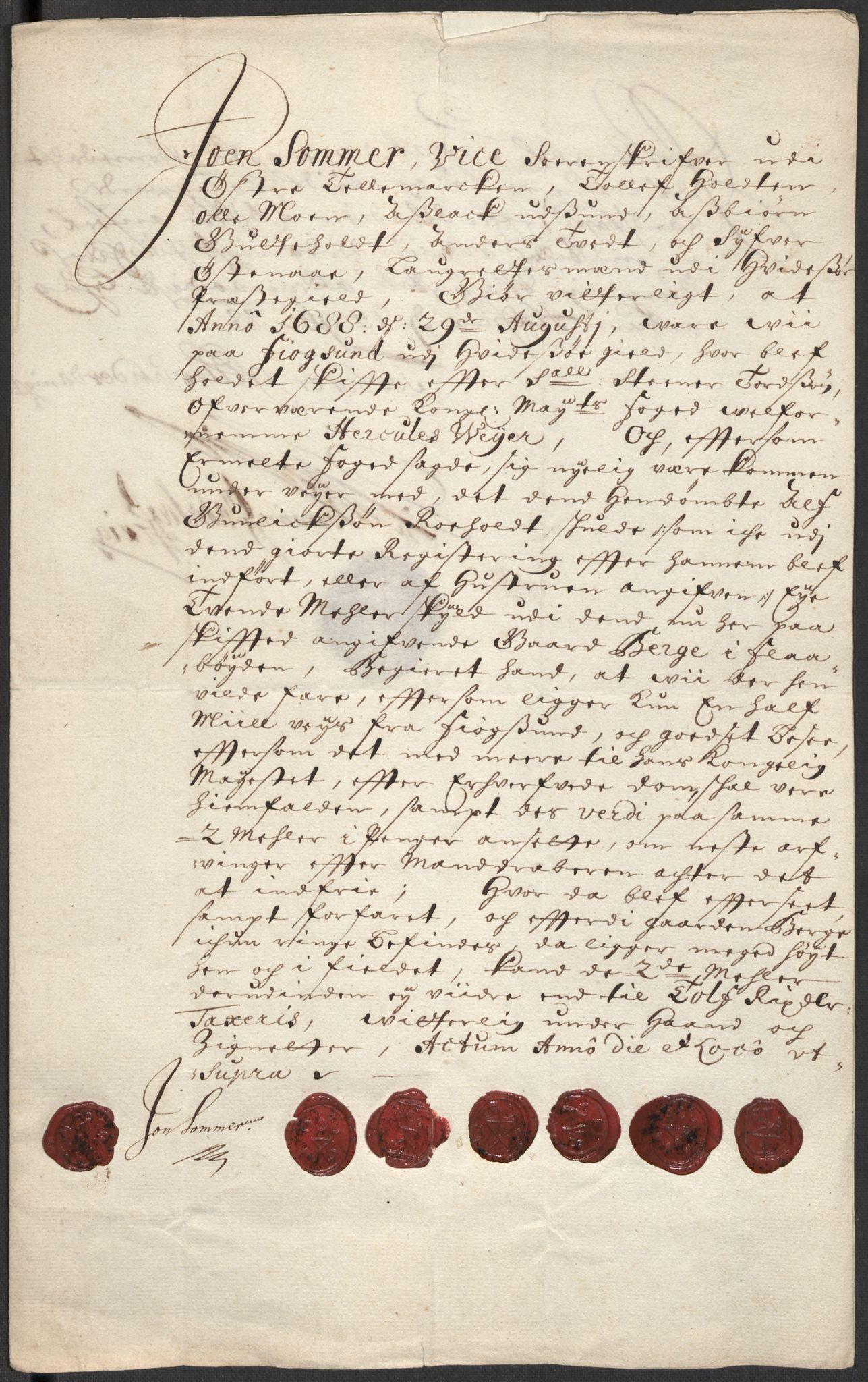 RA, Rentekammeret inntil 1814, Reviderte regnskaper, Fogderegnskap, R35/L2087: Fogderegnskap Øvre og Nedre Telemark, 1687-1689, s. 3
