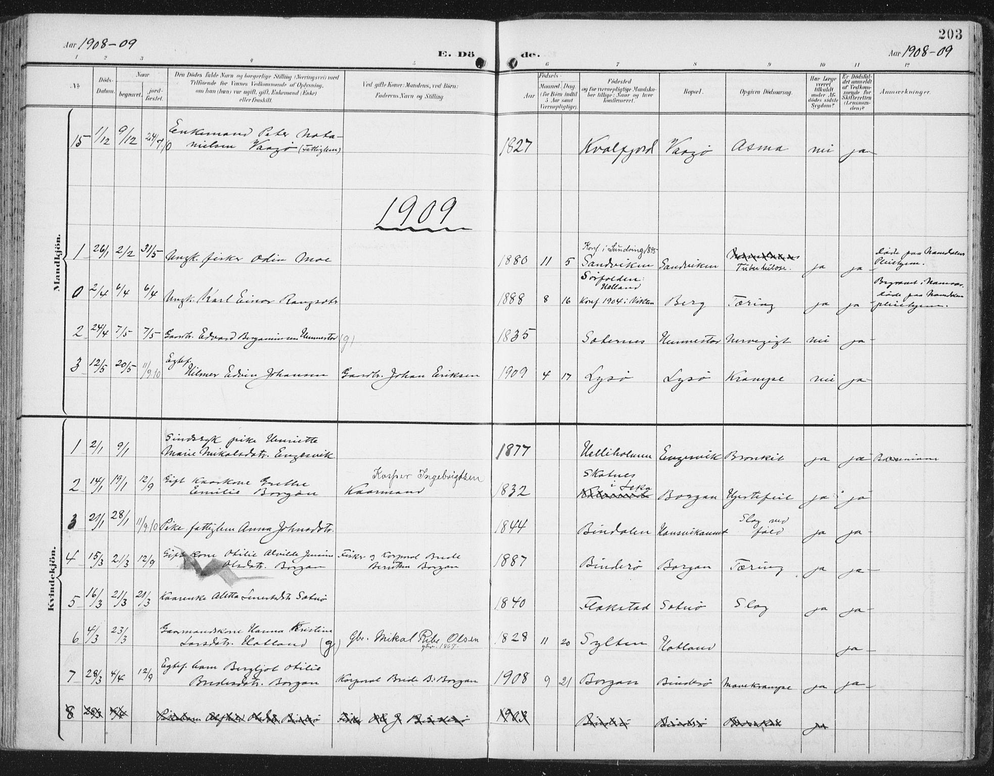 SAT, Ministerialprotokoller, klokkerbøker og fødselsregistre - Nord-Trøndelag, 786/L0688: Ministerialbok nr. 786A04, 1899-1912, s. 203