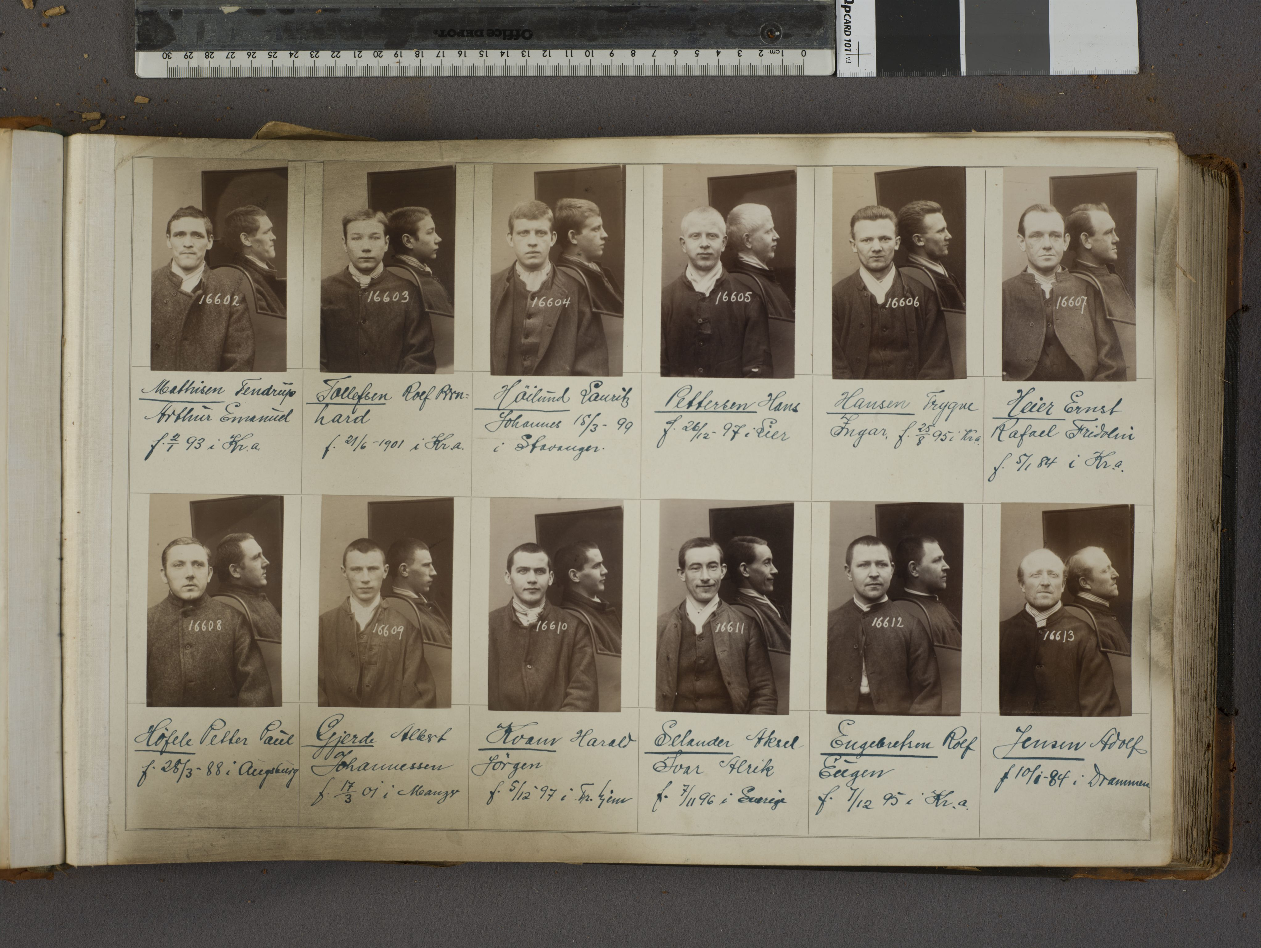 RA, Oslo politikammer, Kriminalavdelingen, U/Ua/L0019: Forbryteralbum, 1920-1921, s. 1