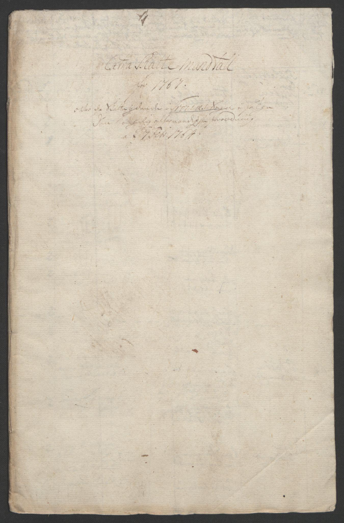 RA, Rentekammeret inntil 1814, Realistisk ordnet avdeling, Ol/L0022b: [Gg 10]: Ekstraskatten, 23.09.1762. Senja og Troms, 1765-1768, s. 120