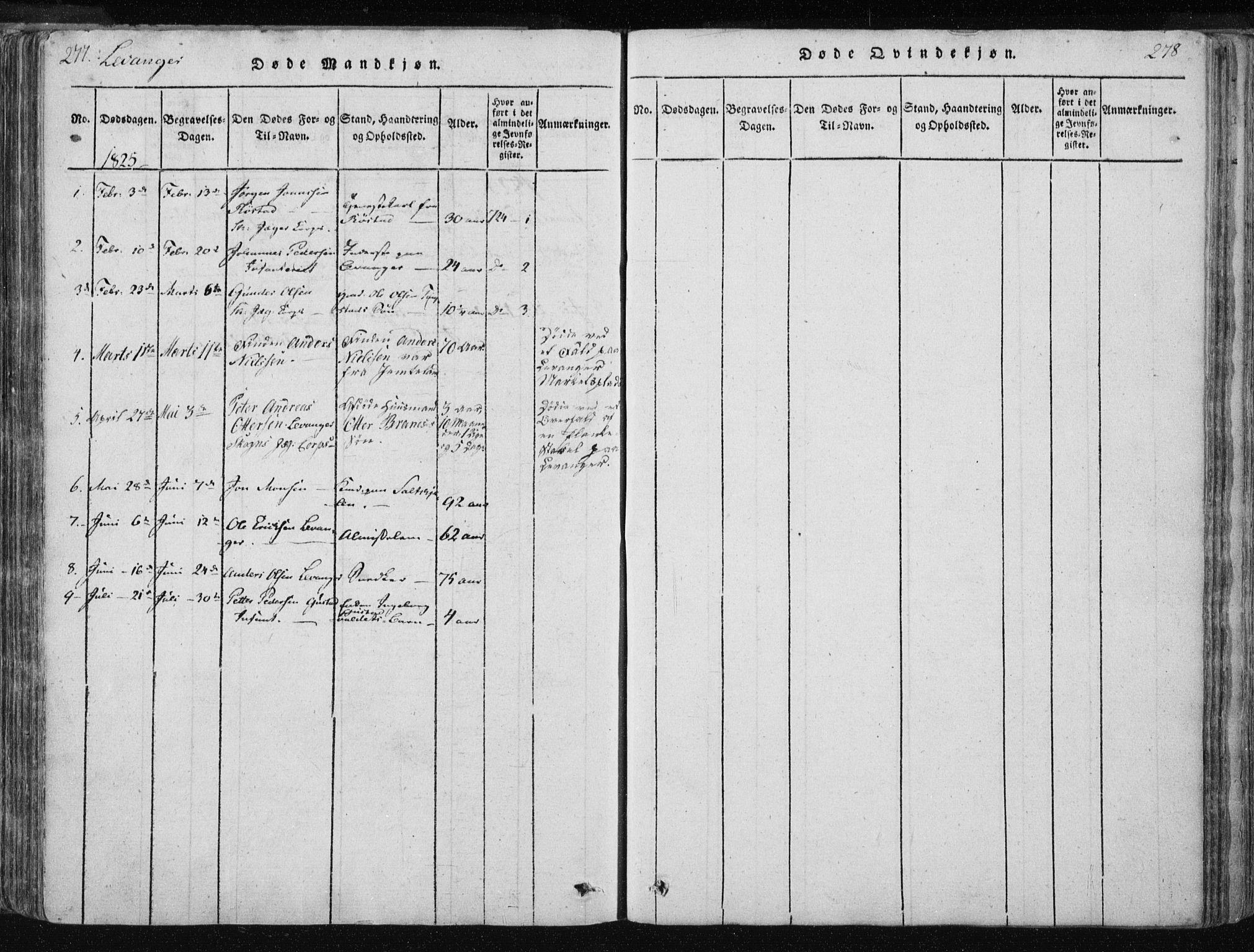 SAT, Ministerialprotokoller, klokkerbøker og fødselsregistre - Nord-Trøndelag, 717/L0148: Ministerialbok nr. 717A04 /2, 1816-1825, s. 277-278