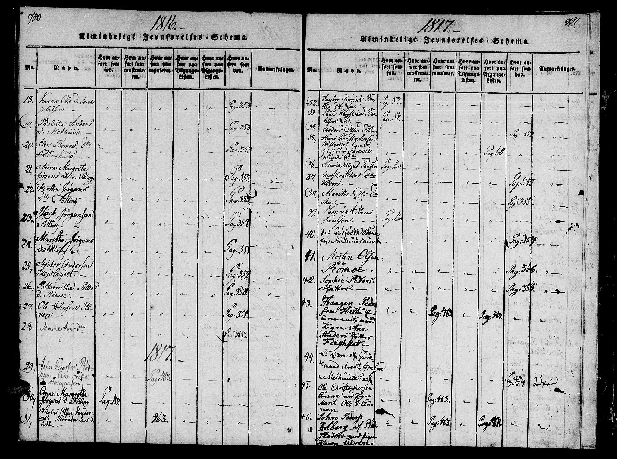 SAT, Ministerialprotokoller, klokkerbøker og fødselsregistre - Nord-Trøndelag, 746/L0441: Ministerialbok nr. 746A03 /4, 1816-1827, s. 750-751