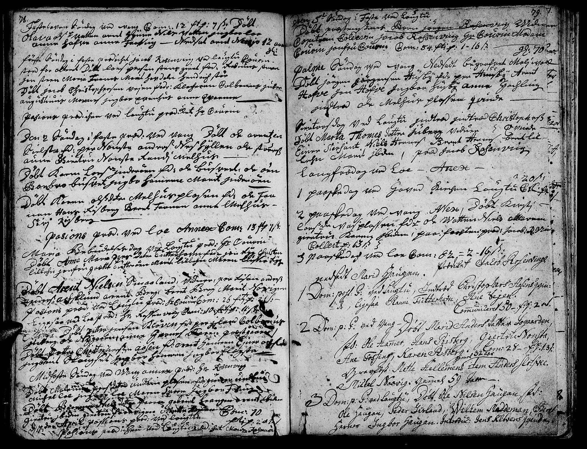 SAT, Ministerialprotokoller, klokkerbøker og fødselsregistre - Nord-Trøndelag, 713/L0109: Ministerialbok nr. 713A01, 1750-1778, s. 78-79