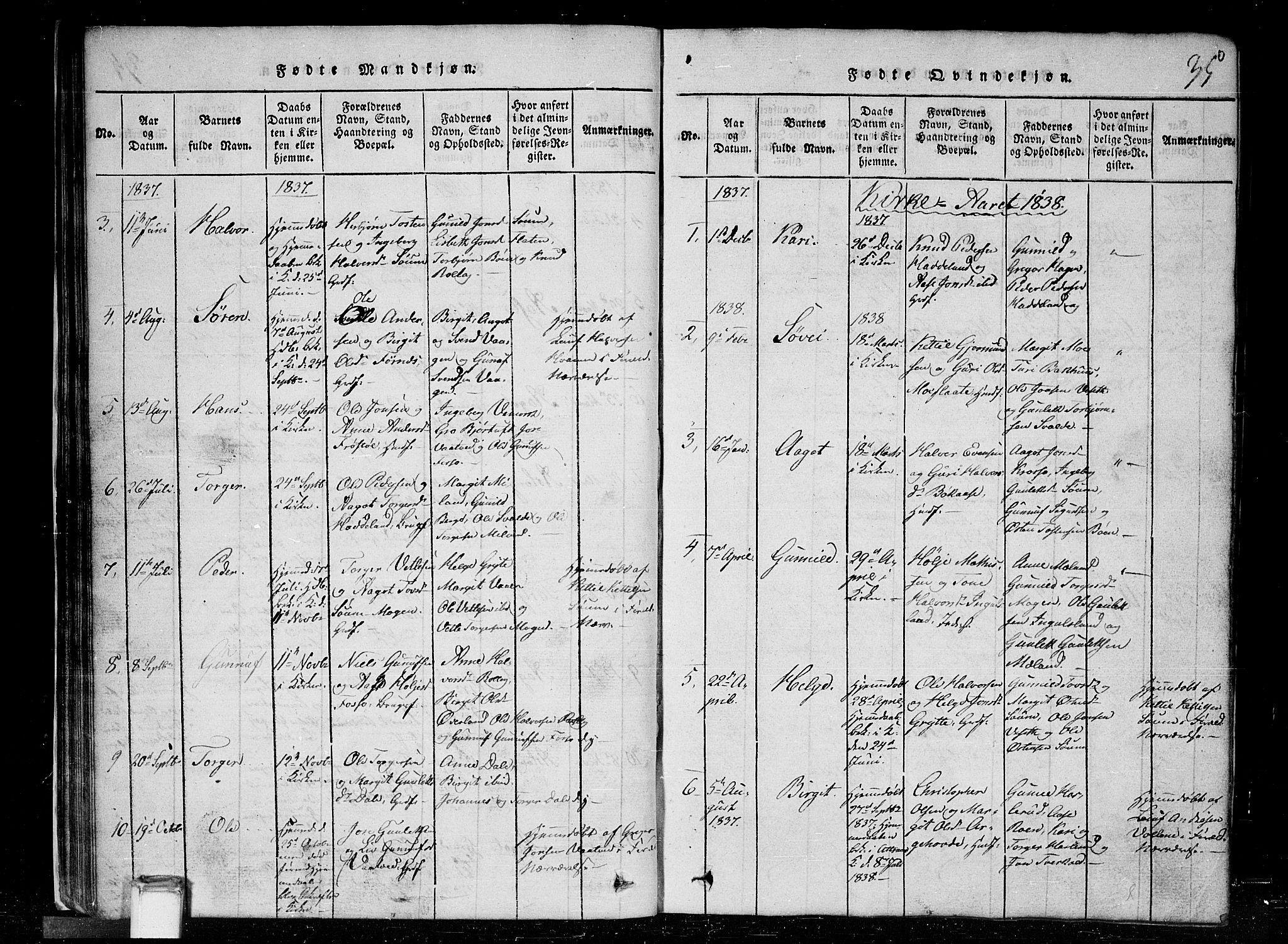 SAKO, Tinn kirkebøker, G/Gc/L0001: Klokkerbok nr. III 1, 1815-1879, s. 35