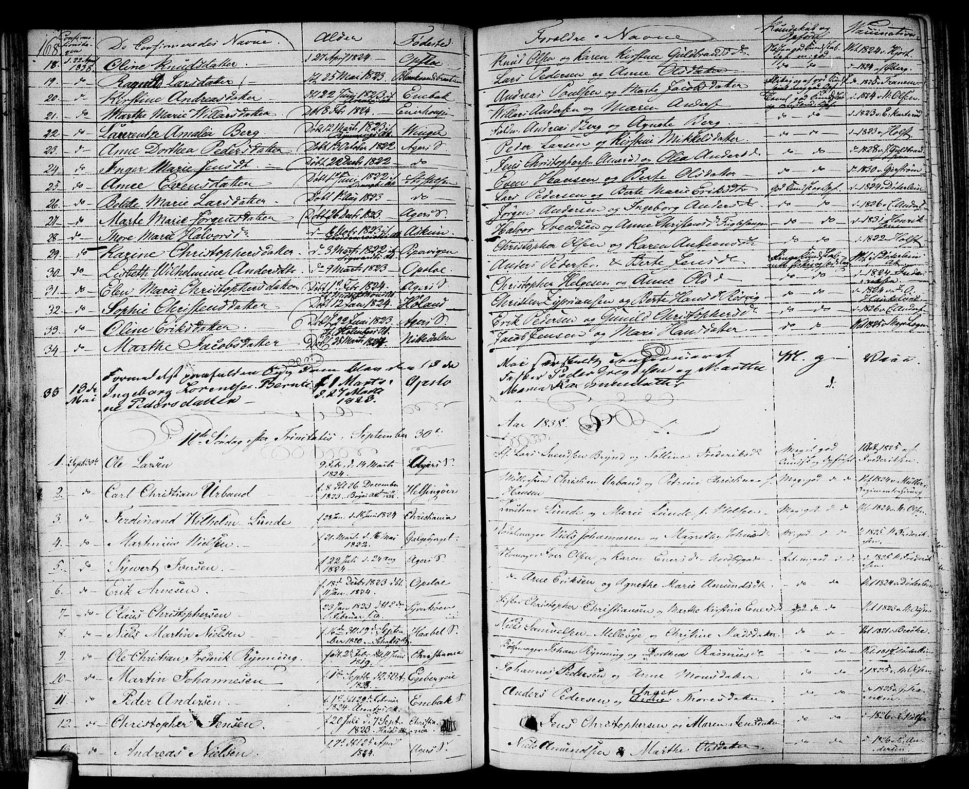 SAO, Gamlebyen prestekontor Kirkebøker, F/Fa/L0003: Ministerialbok nr. 3, 1829-1849, s. 168