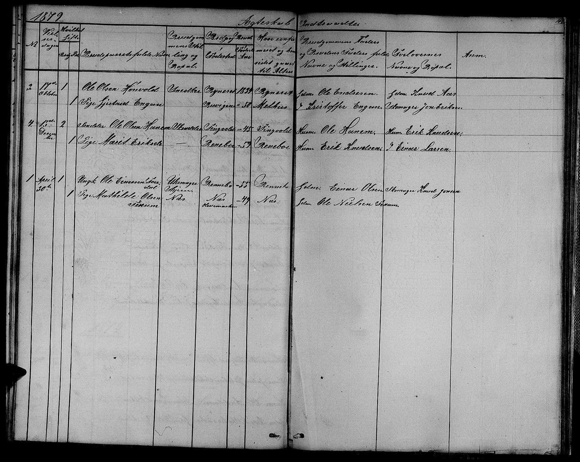 SAT, Ministerialprotokoller, klokkerbøker og fødselsregistre - Sør-Trøndelag, 611/L0353: Klokkerbok nr. 611C01, 1854-1881, s. 105