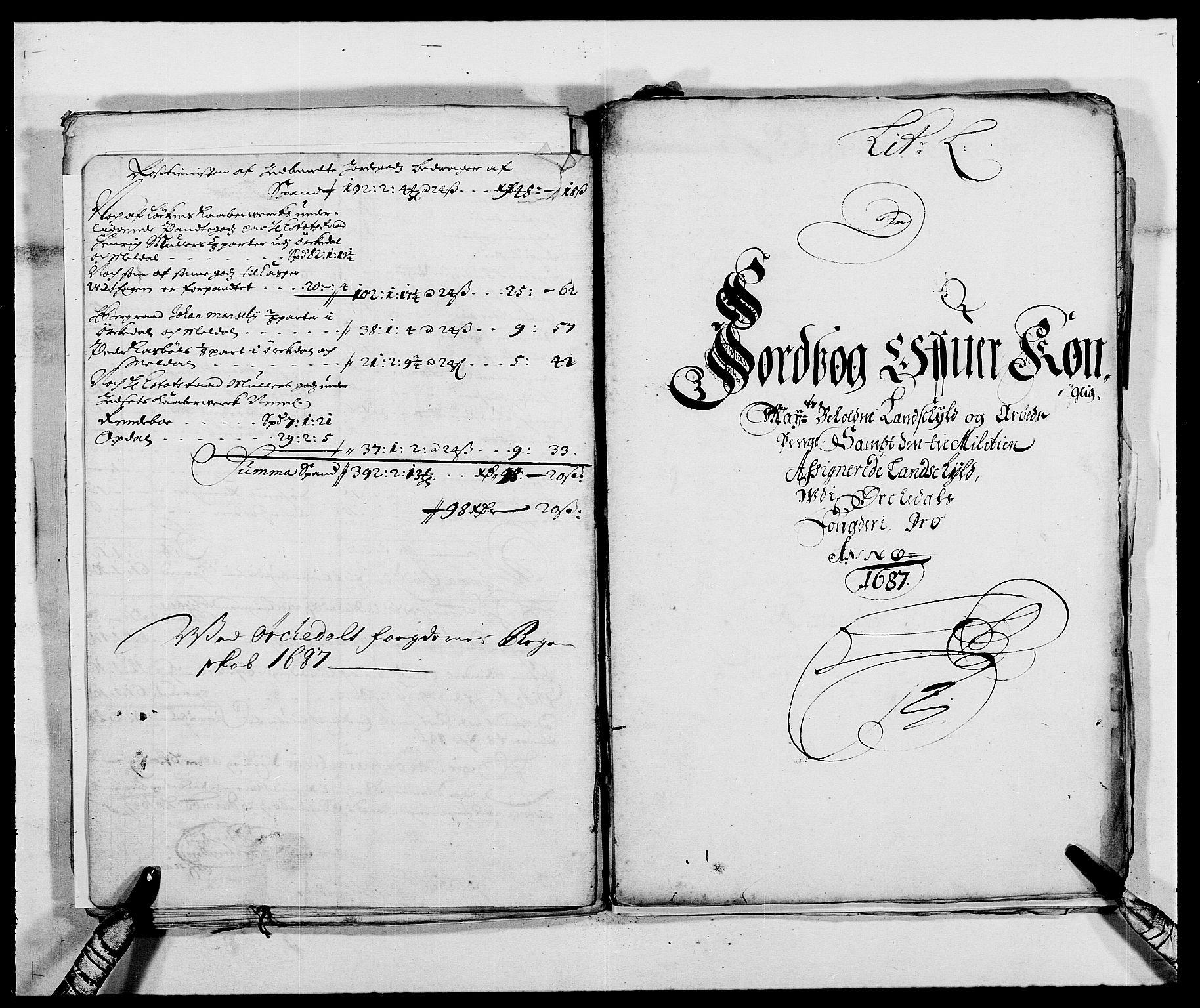 RA, Rentekammeret inntil 1814, Reviderte regnskaper, Fogderegnskap, R58/L3935: Fogderegnskap Orkdal, 1687-1688, s. 127
