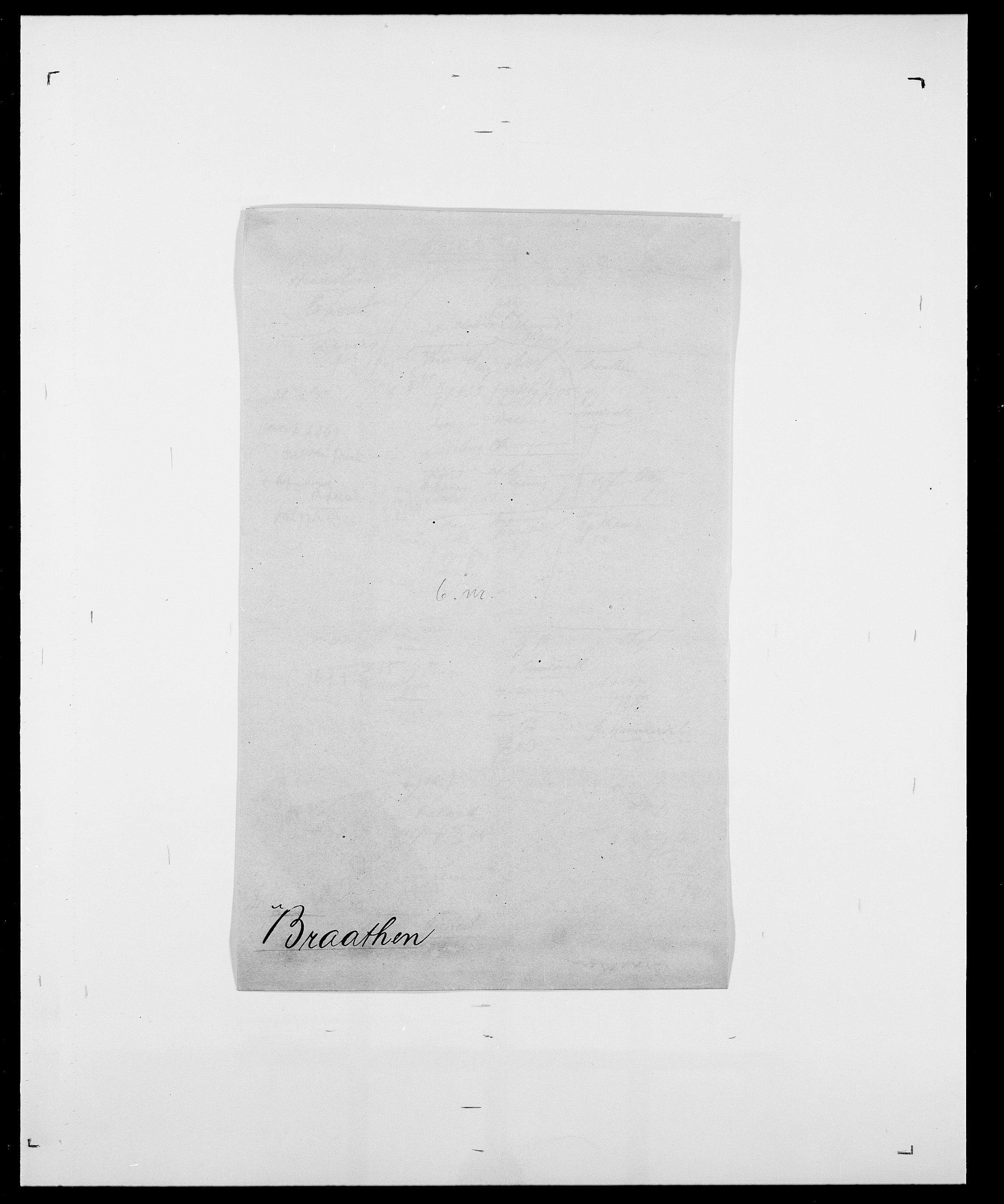 SAO, Delgobe, Charles Antoine - samling, D/Da/L0005: Boalth - Brahm, s. 425